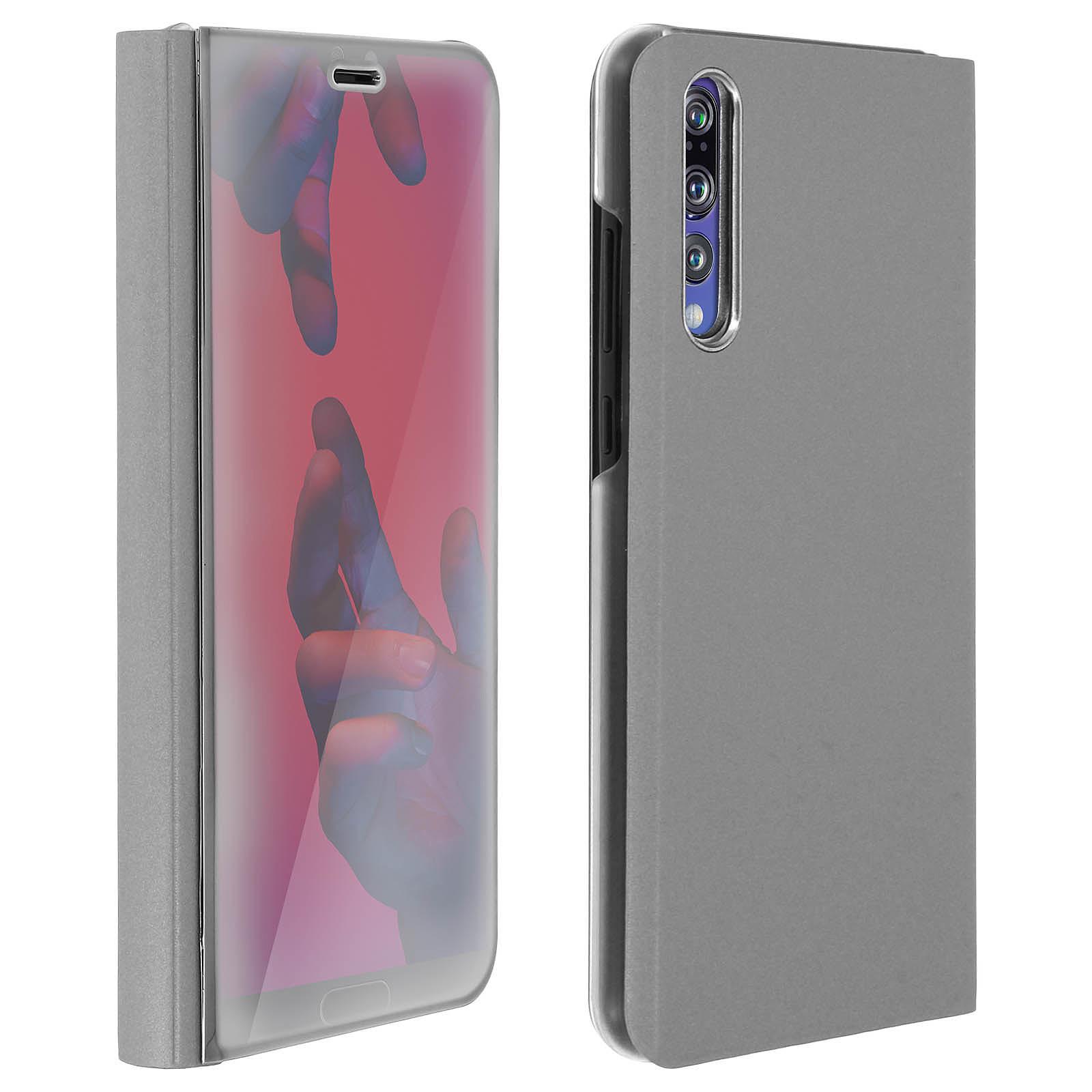 Avizar Etui folio Argent pour Huawei P20 Pro