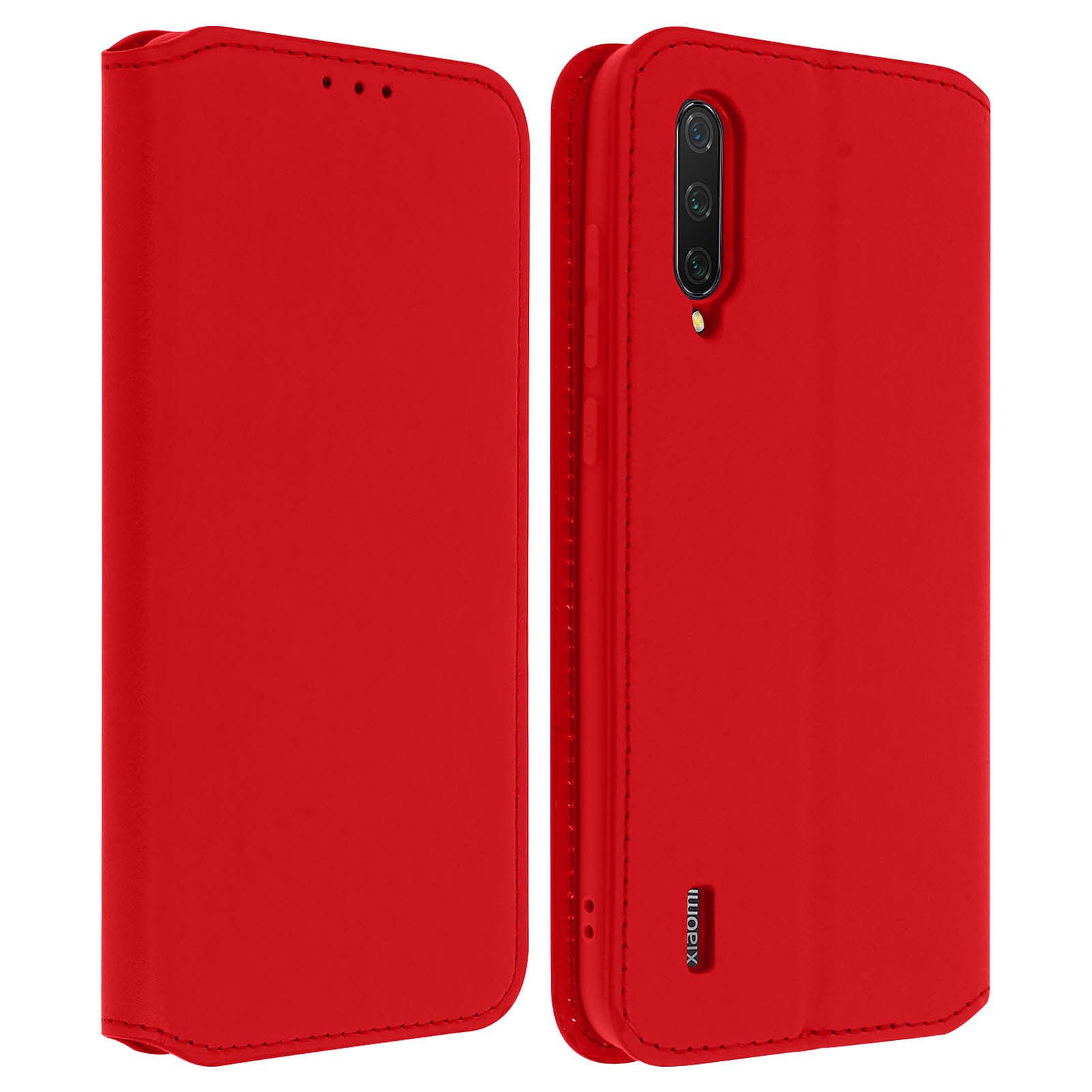 Avizar Etui folio Rouge pour Xiaomi Mi 9 Lite