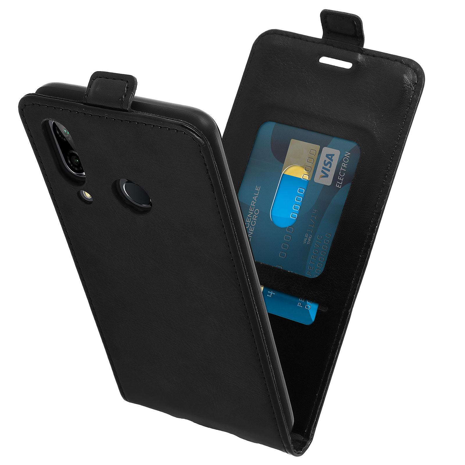 Avizar Etui à clapet Noir pour Huawei P20 Lite