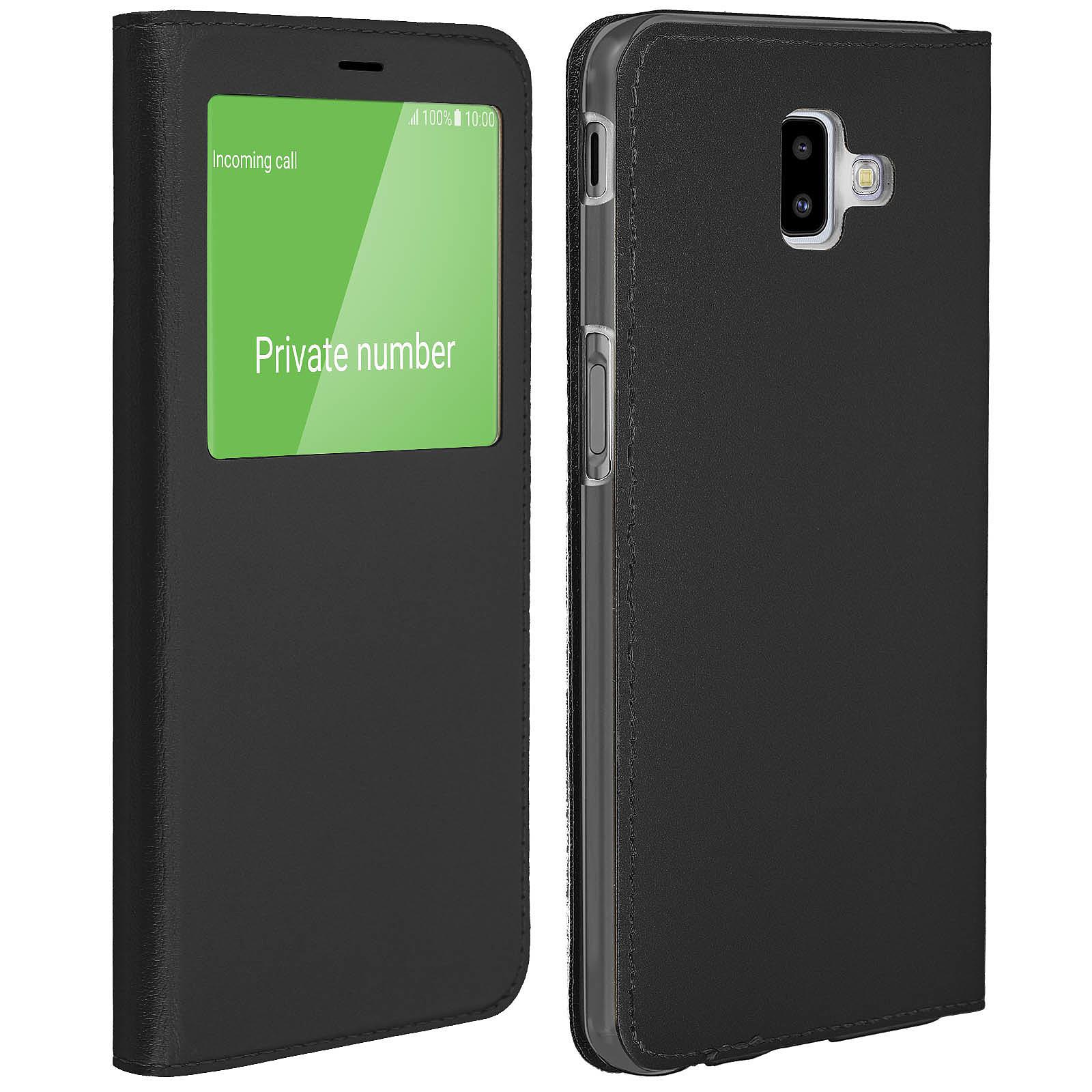 Avizar Etui folio Noir pour Samsung Galaxy J6 Plus
