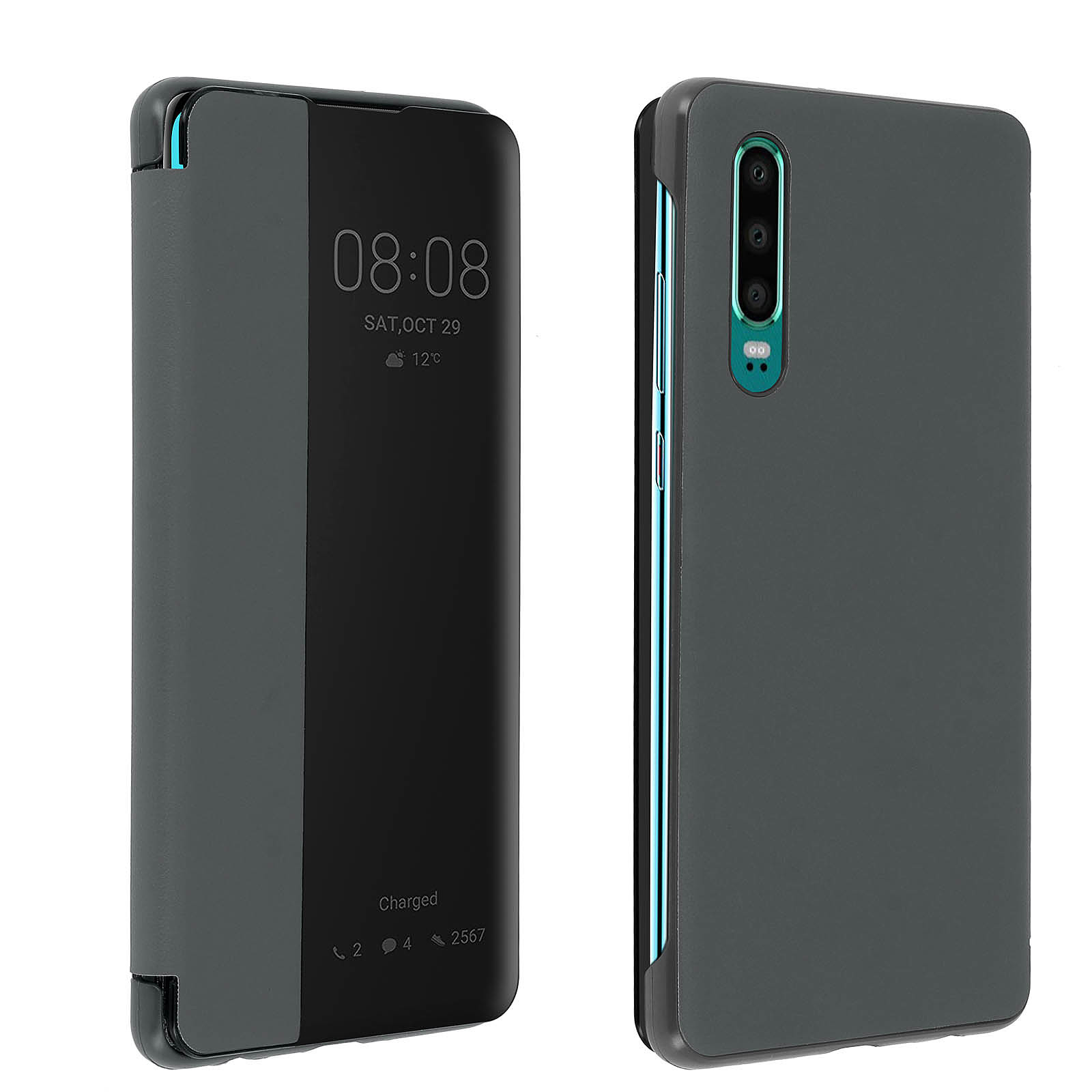 Avizar Etui folio Gris pour Huawei P30