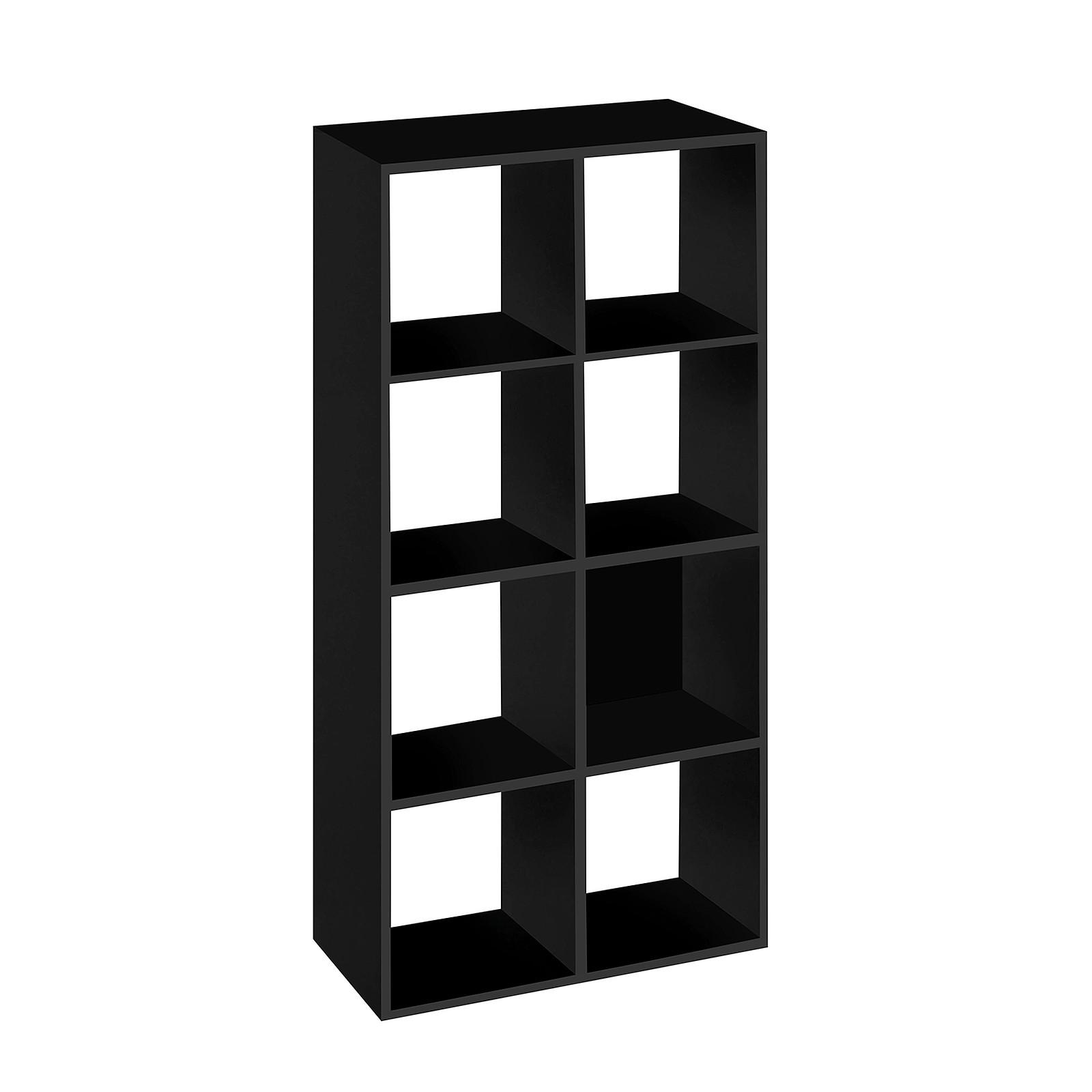 Bibliotheque 8 Cases Noir Mt1 Elegance Meuble Ordinateur Mt International Sur Ldlc Com