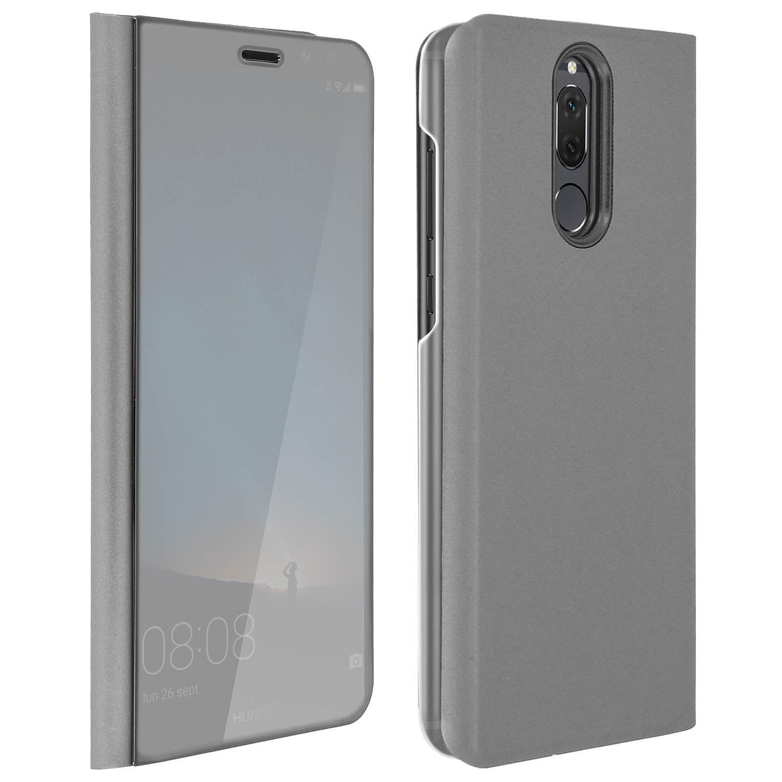 Avizar Etui folio Argent pour Huawei Mate 10 Lite
