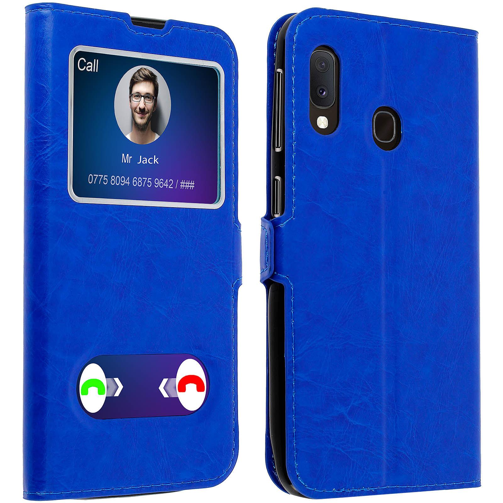 Avizar Etui folio Bleu pour Samsung Galaxy A20e