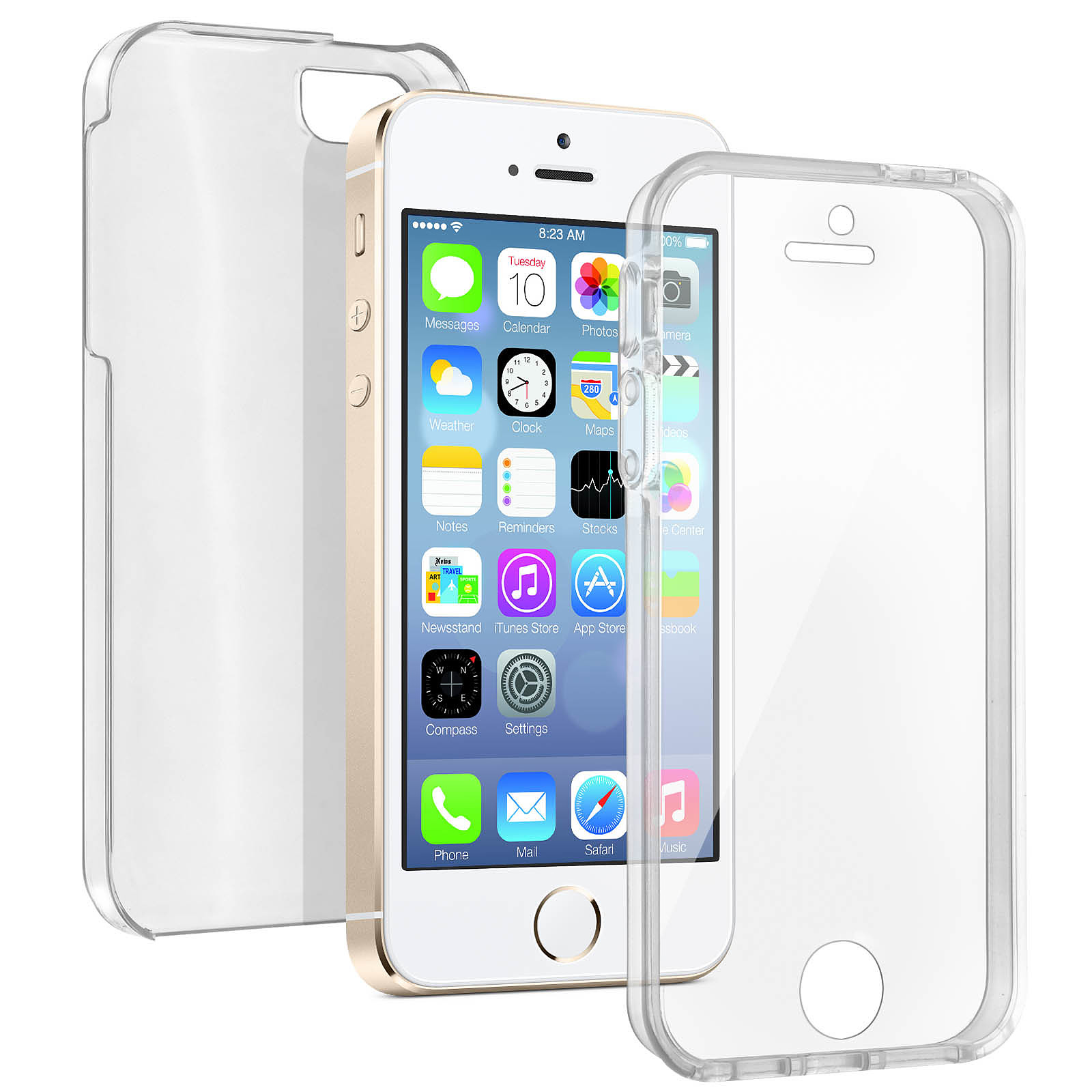 Avizar Coque Transparent pour Apple iPhone 5 , Apple iPhone 5S , Apple iPhone SE