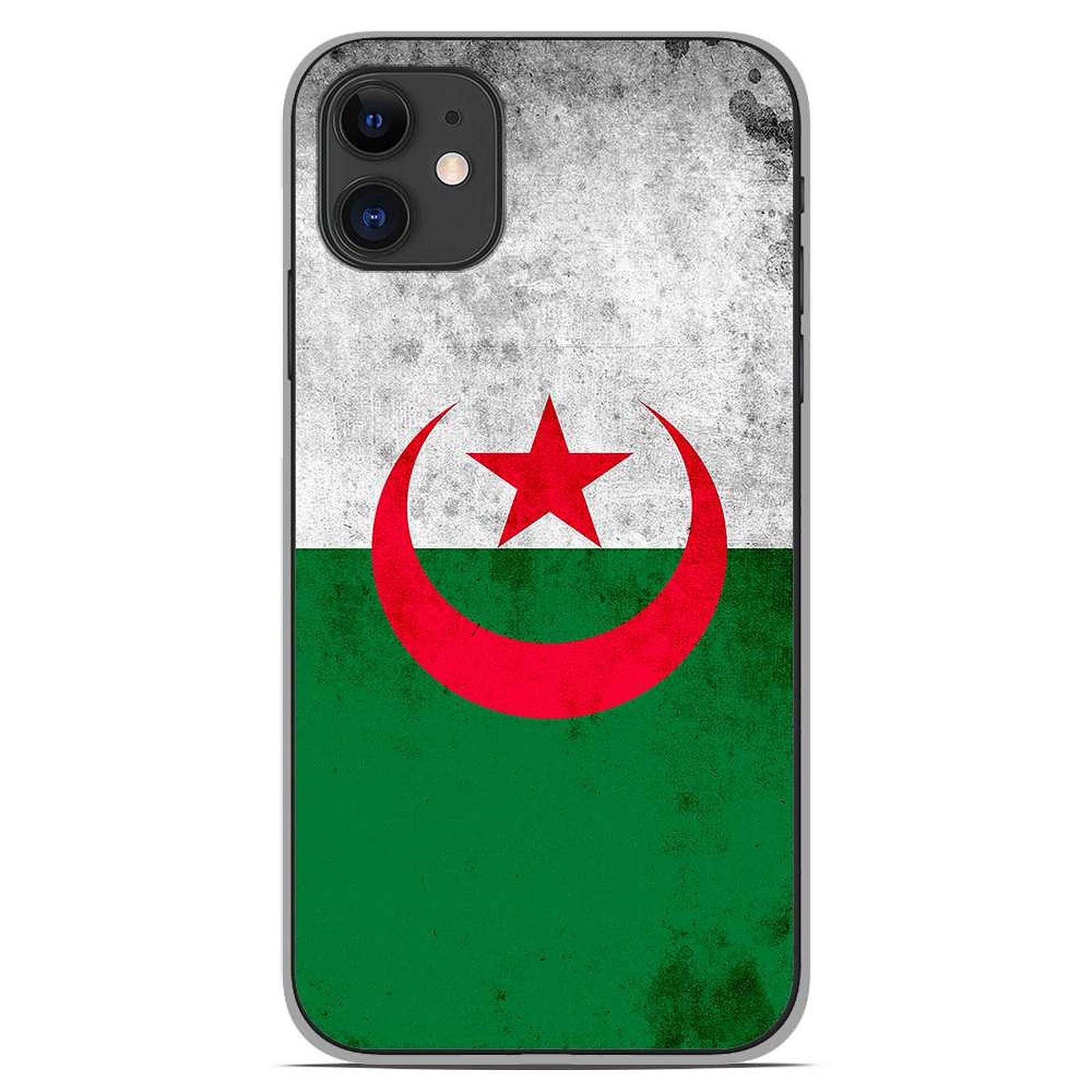 1001 Coques Coque silicone gel Apple iPhone 11 motif Drapeau Algérie