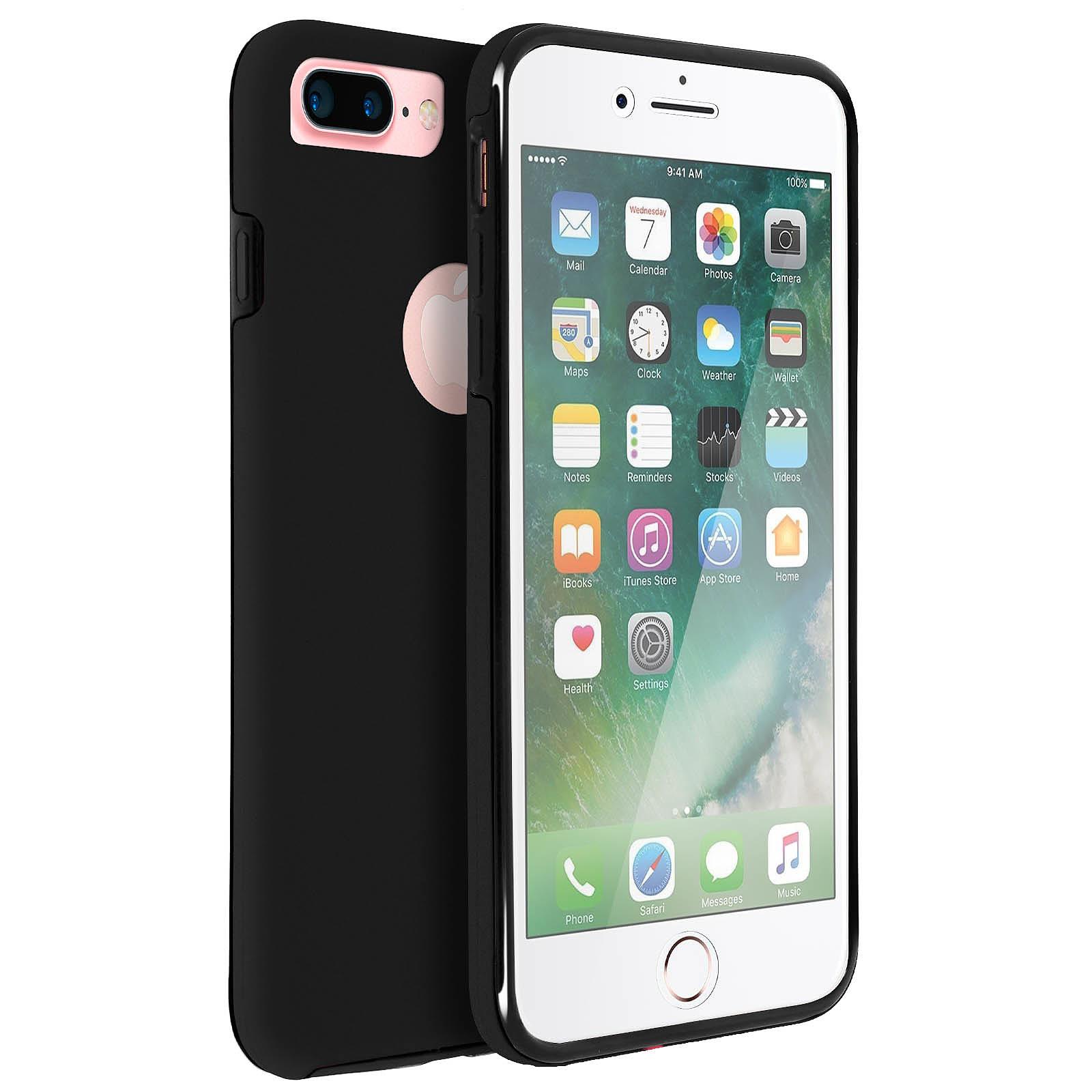 Avizar Coque Noir pour Apple iPhone 7 Plus , Apple iPhone 8 Plus