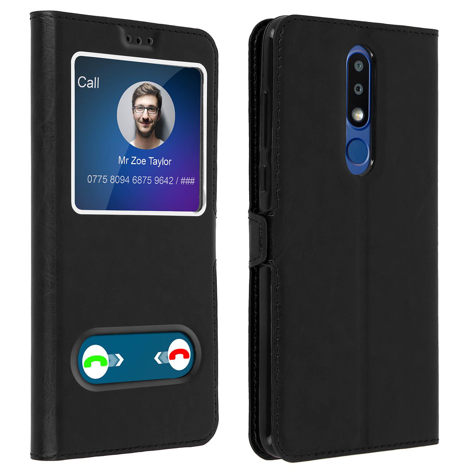 Avizar Etui folio Noir pour Nokia 3.1 Plus