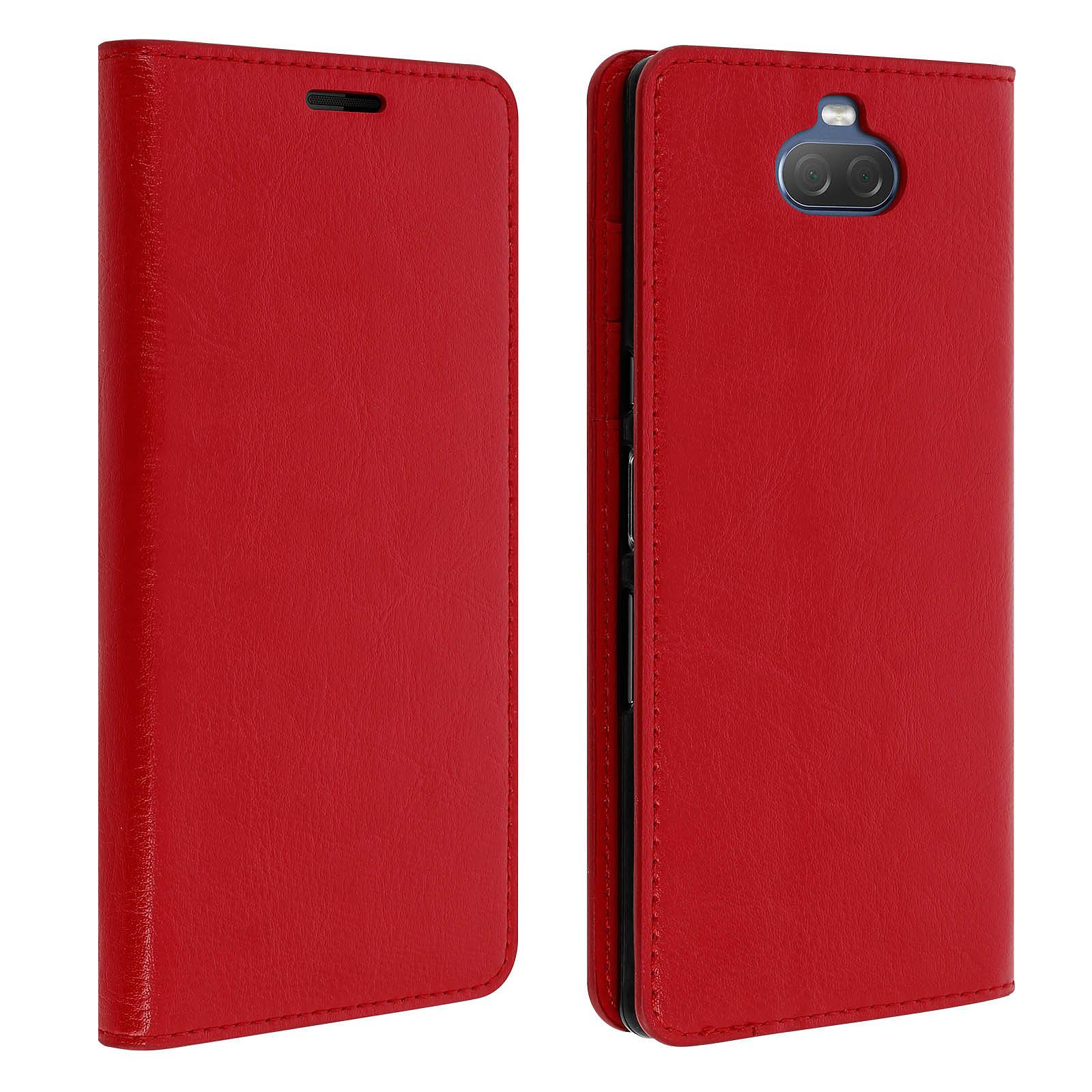 Avizar Etui folio Rouge pour Sony Xperia 10