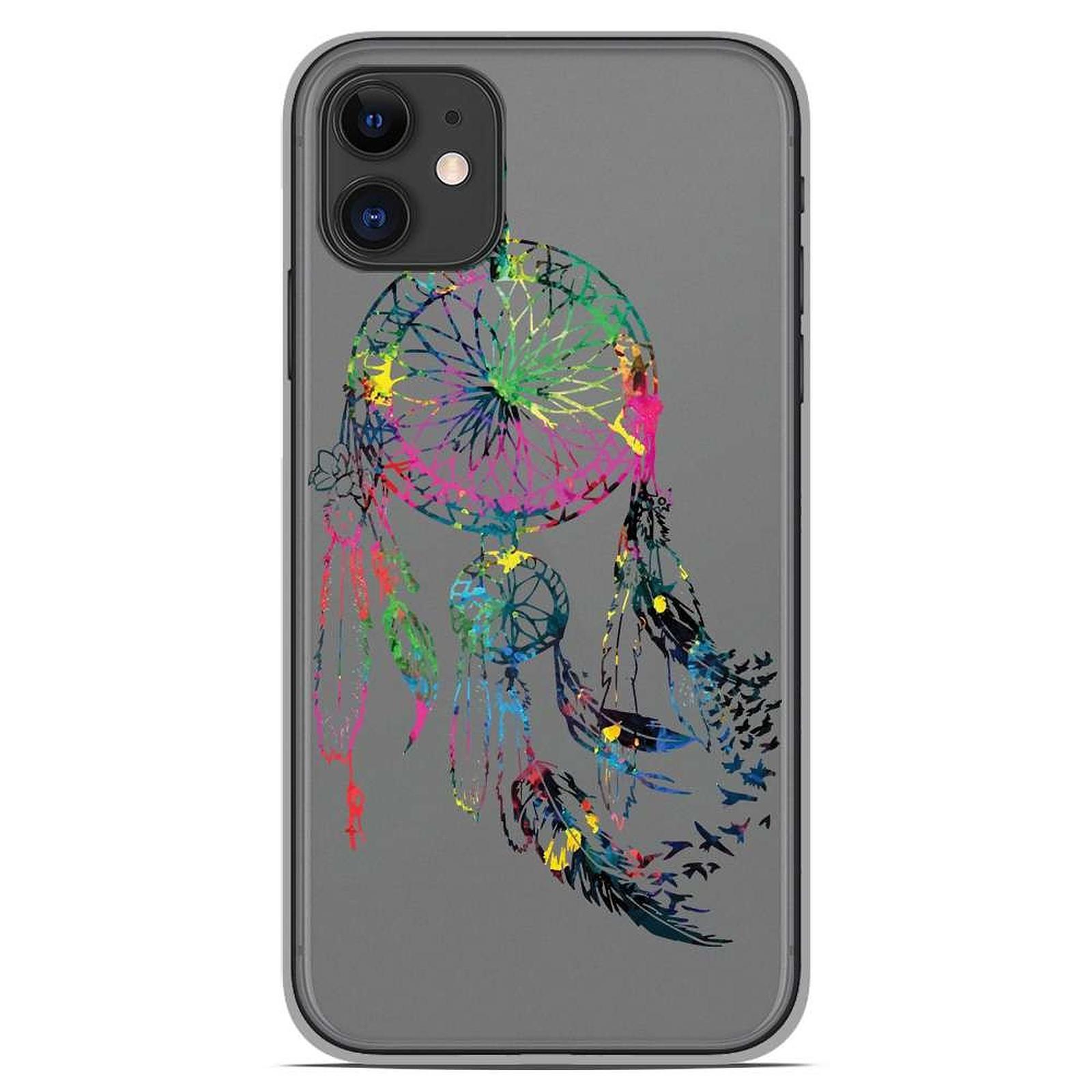 1001 Coques Coque silicone gel Apple iPhone 11 motif Dreamcatcher Gris
