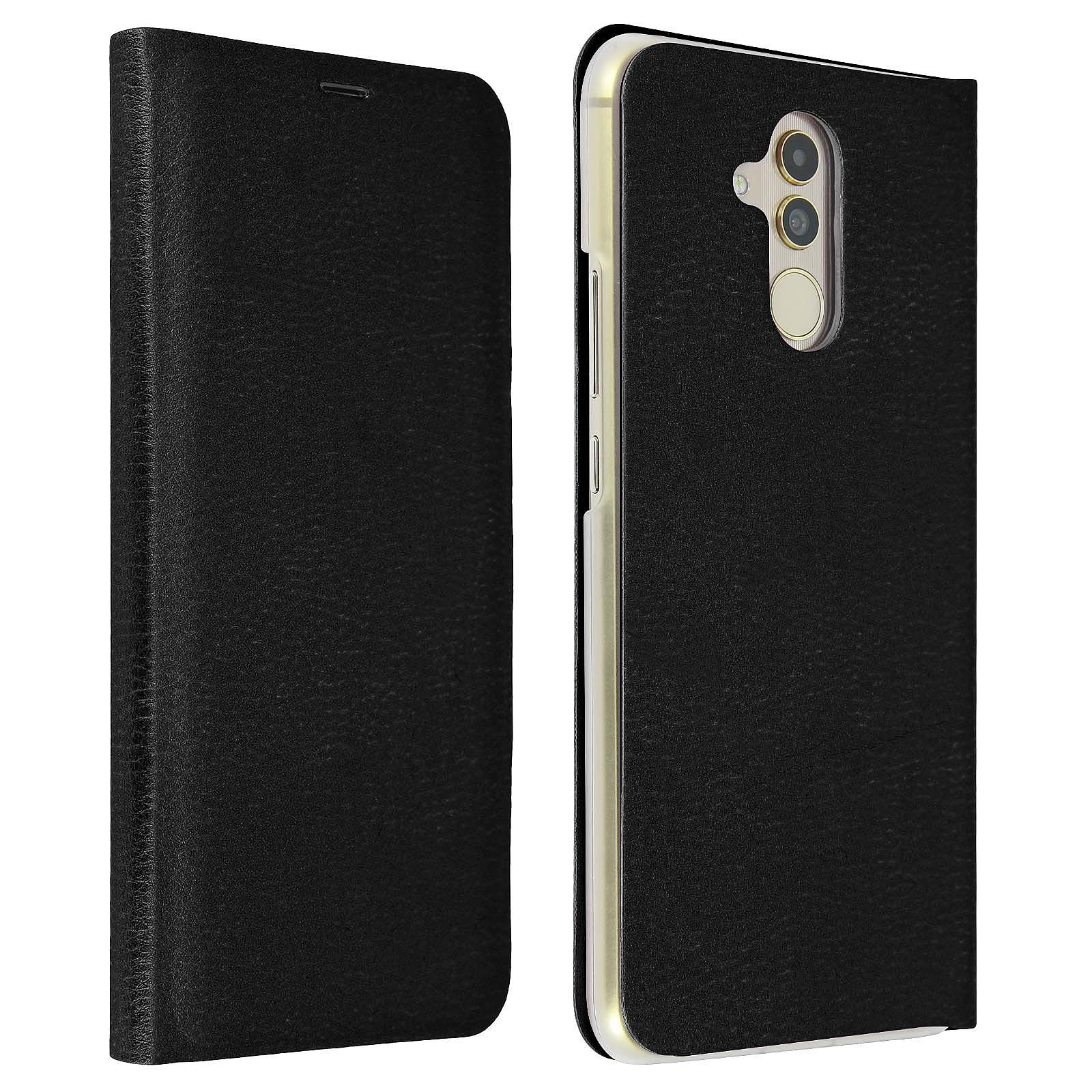 Avizar Etui folio Noir Éco-cuir pour Huawei Mate 20 Lite