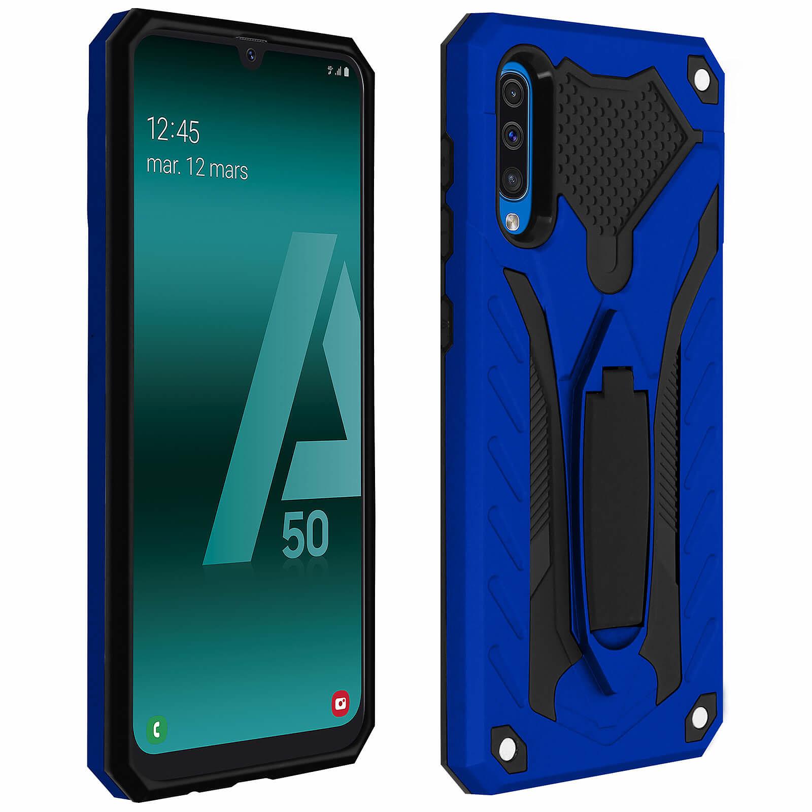Avizar Coque Bleu Hybride pour Samsung Galaxy A50