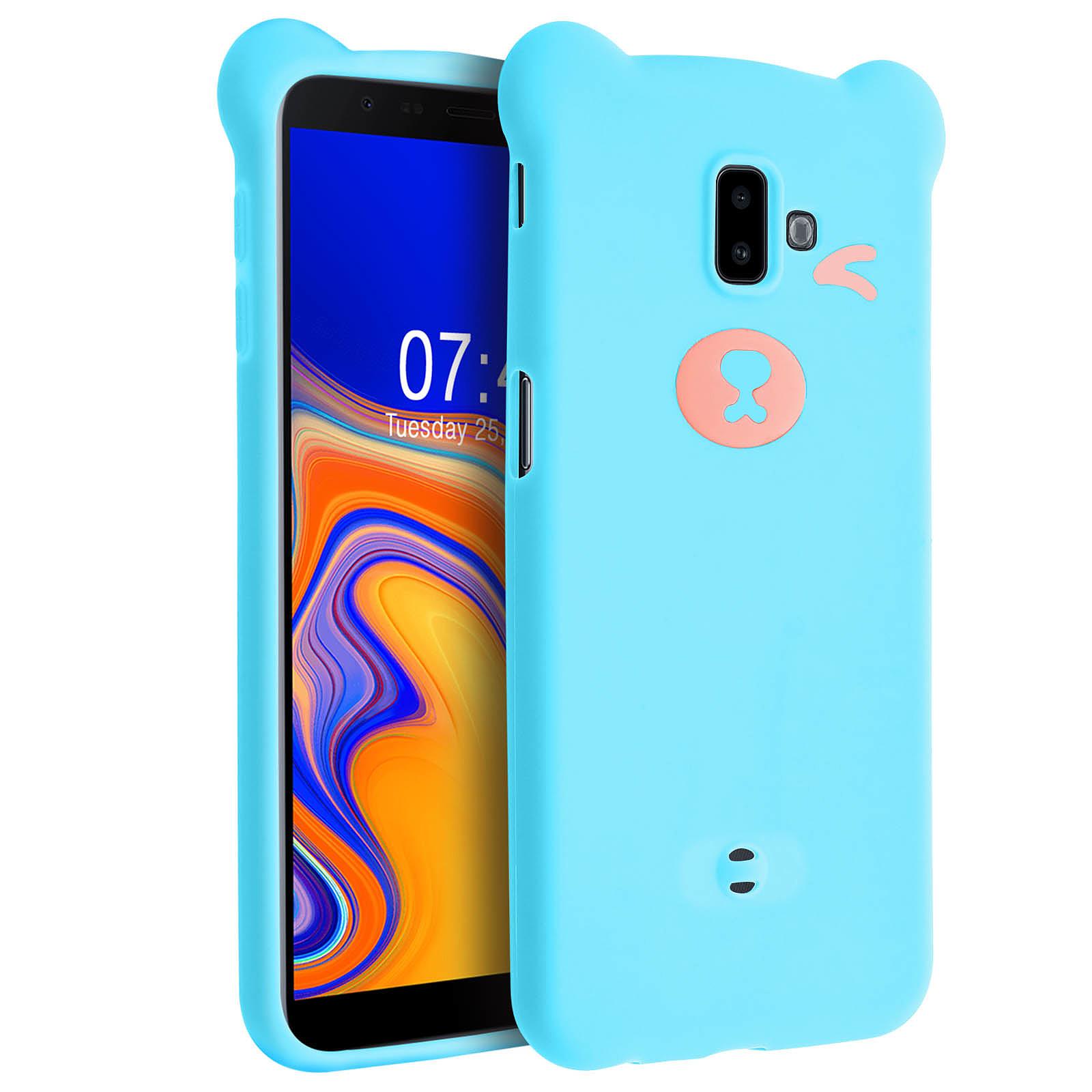 Avizar Coque Bleu Design Nounours pour Samsung Galaxy J6 Plus