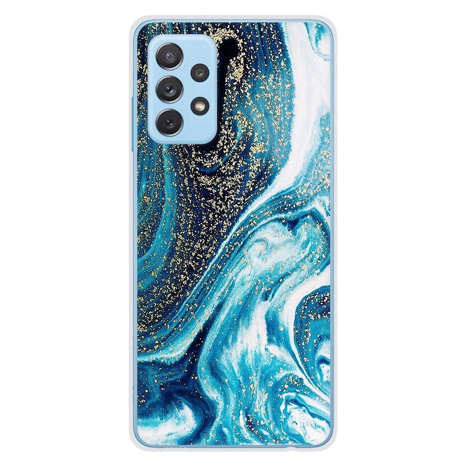1001 Coques Coque silicone gel Samsung Galaxy A32 4G motif Marbre Bleu Pailleté - Coque téléphone 1001Coques sur LDLC