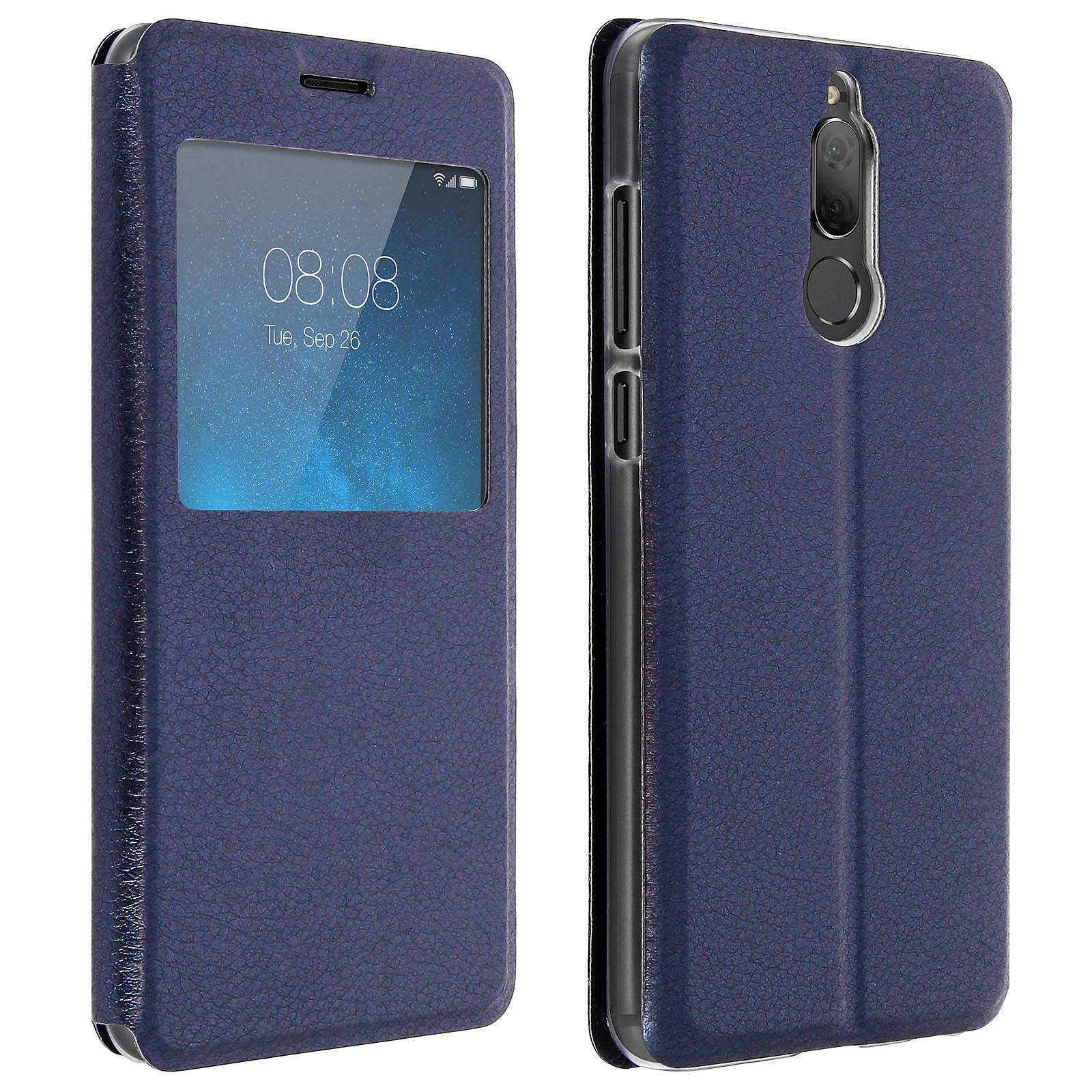 Avizar Etui folio Bleu Nuit pour Huawei Mate 10 Lite