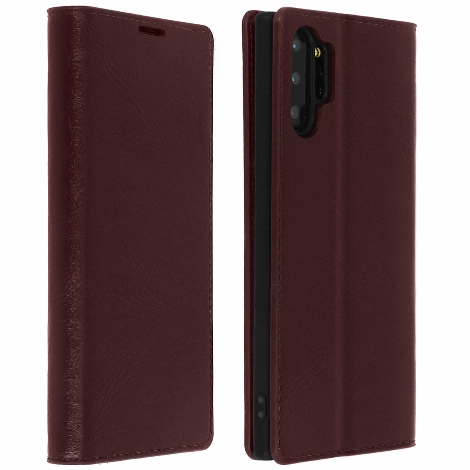Avizar Etui folio Marron pour Samsung Galaxy Note 10 Plus