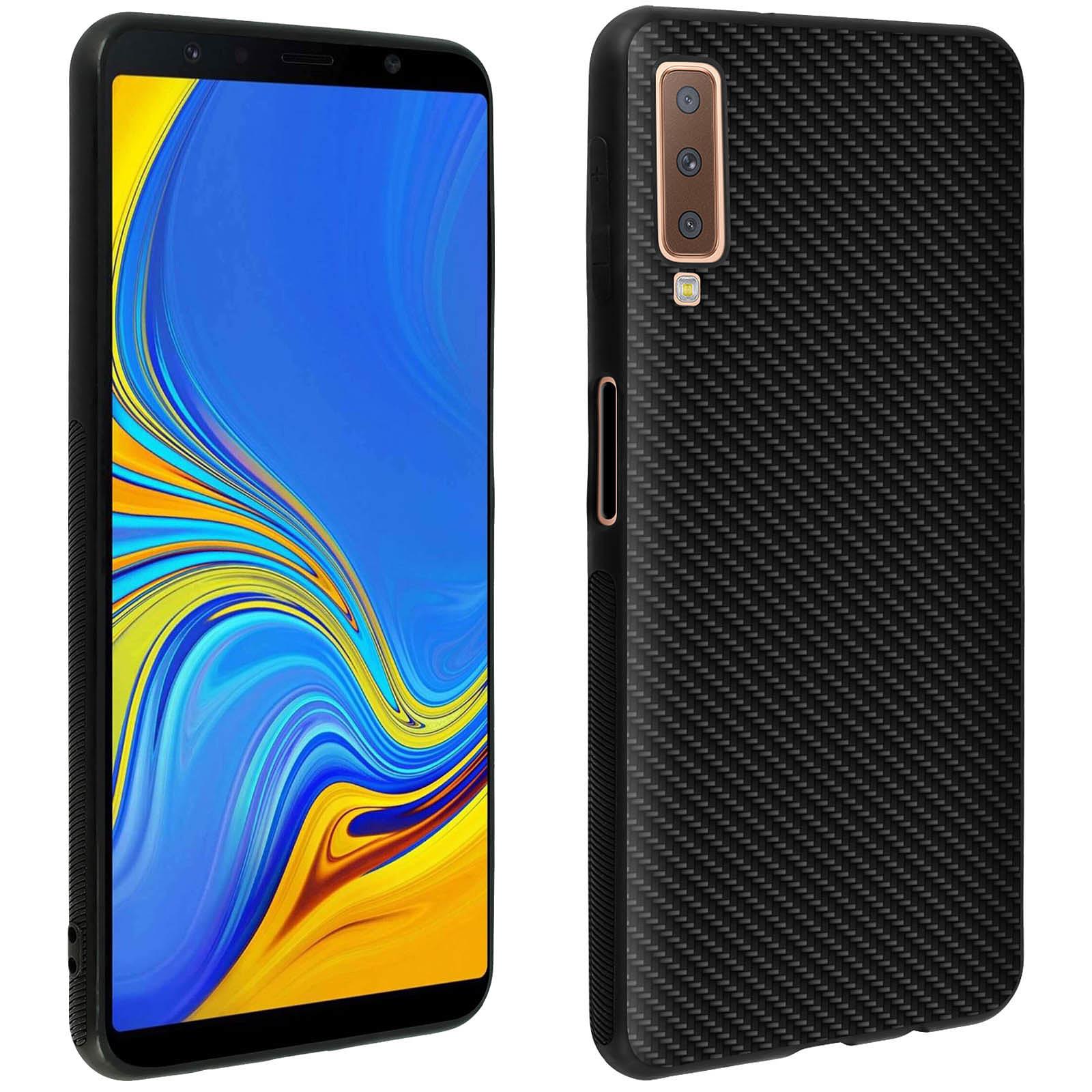 Avizar Coque Noir Souple pour Samsung Galaxy A7 2018