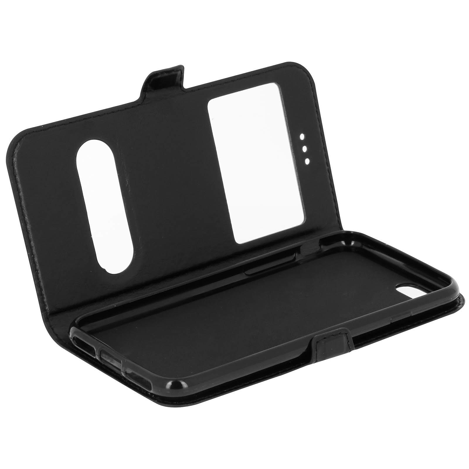 Avizar Etui folio Noir pour Apple iPhone 7 , Apple iPhone 8 , Apple iPhone SE 2020