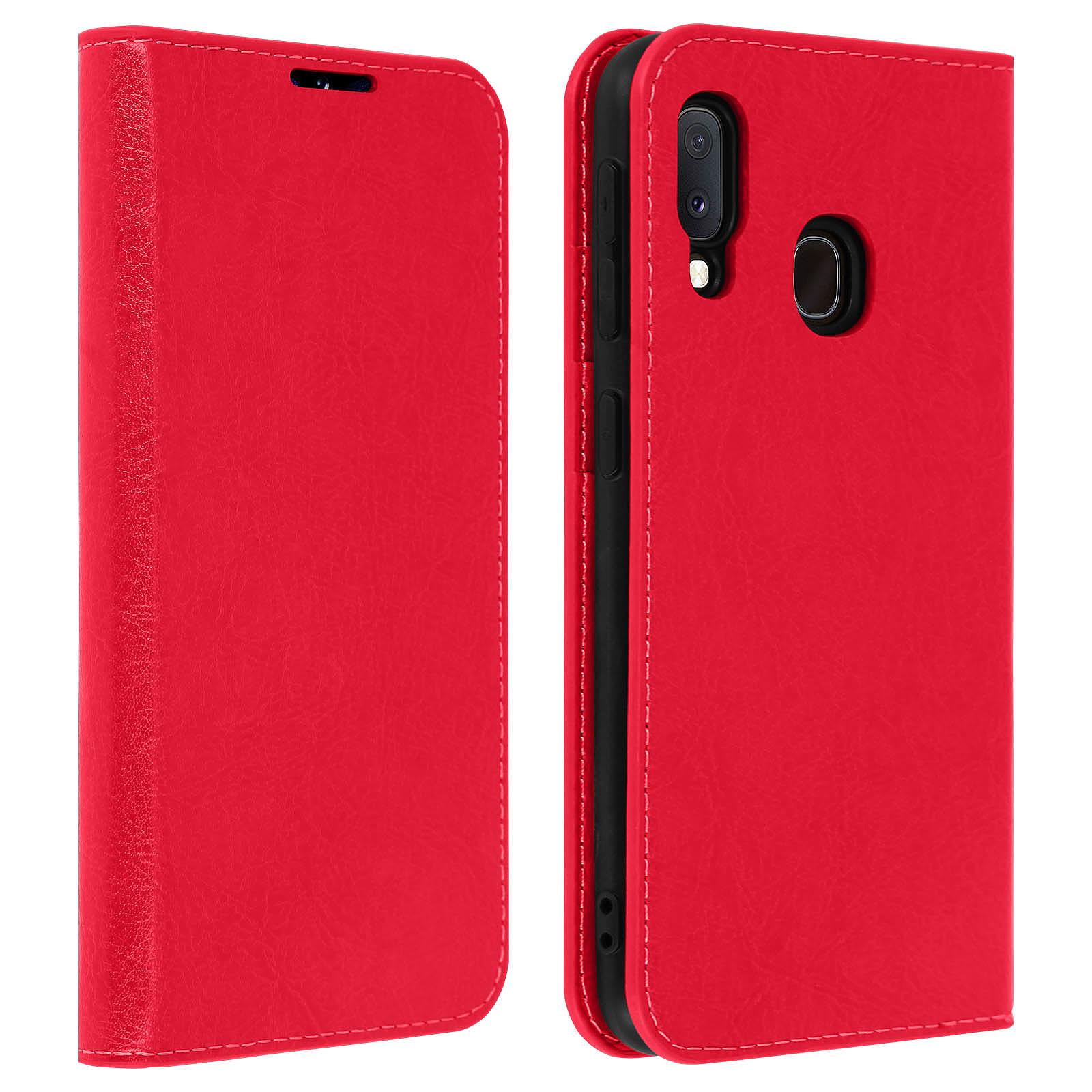 Avizar Etui folio Rouge pour Samsung Galaxy A20e