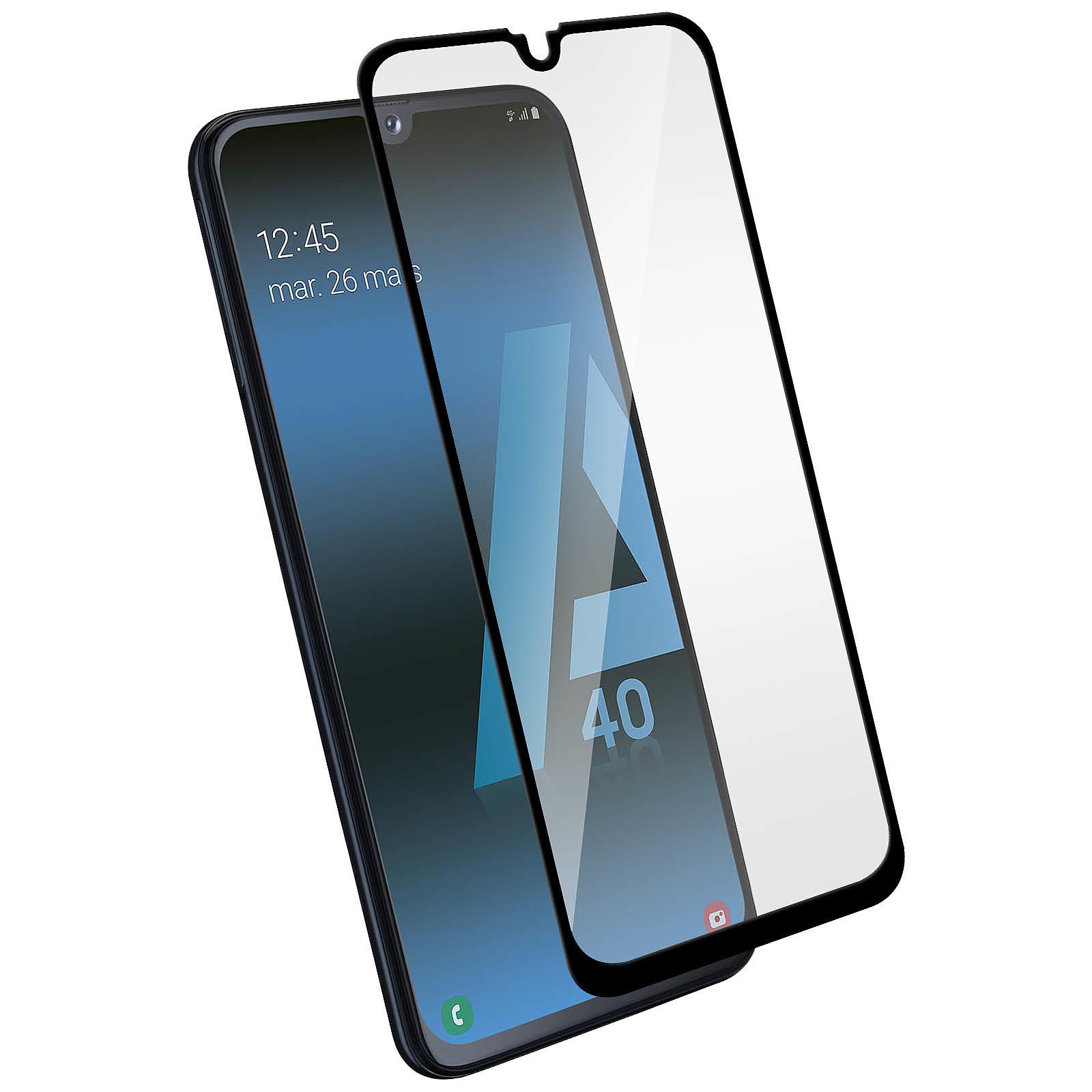 Avizar Film verre trempé Noir pour Samsung Galaxy A40