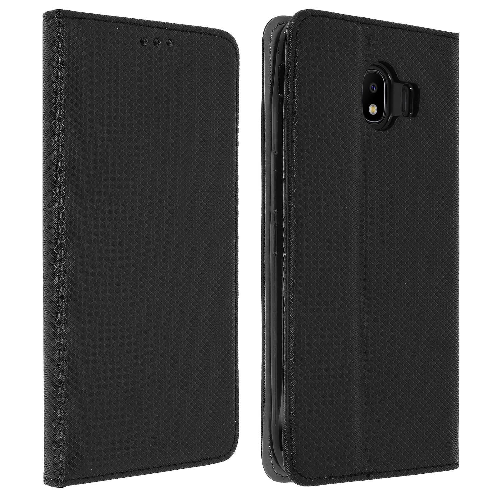 Avizar Etui folio Noir pour Samsung Galaxy J4