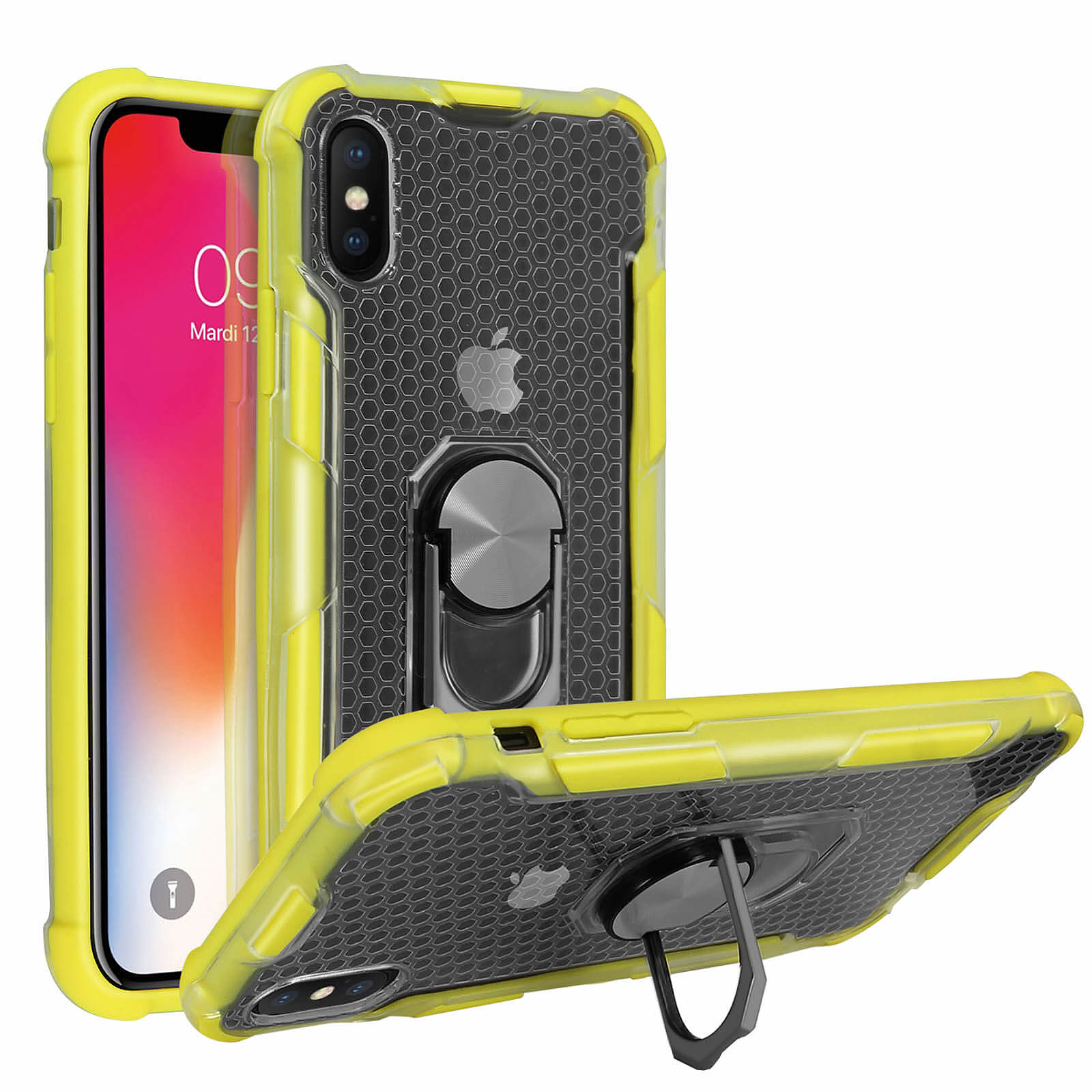 Avizar Coque Jaune pour Apple iPhone X , Apple iPhone XS