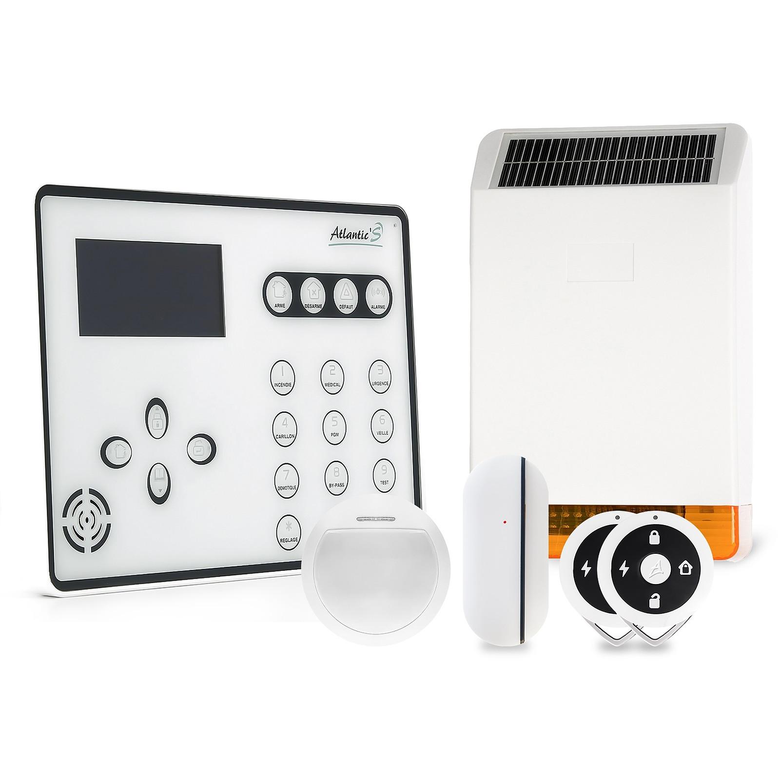 Atlantic'S ATEOS - Alarme de maison sans fil GSM Kit 1C (MD-326R)