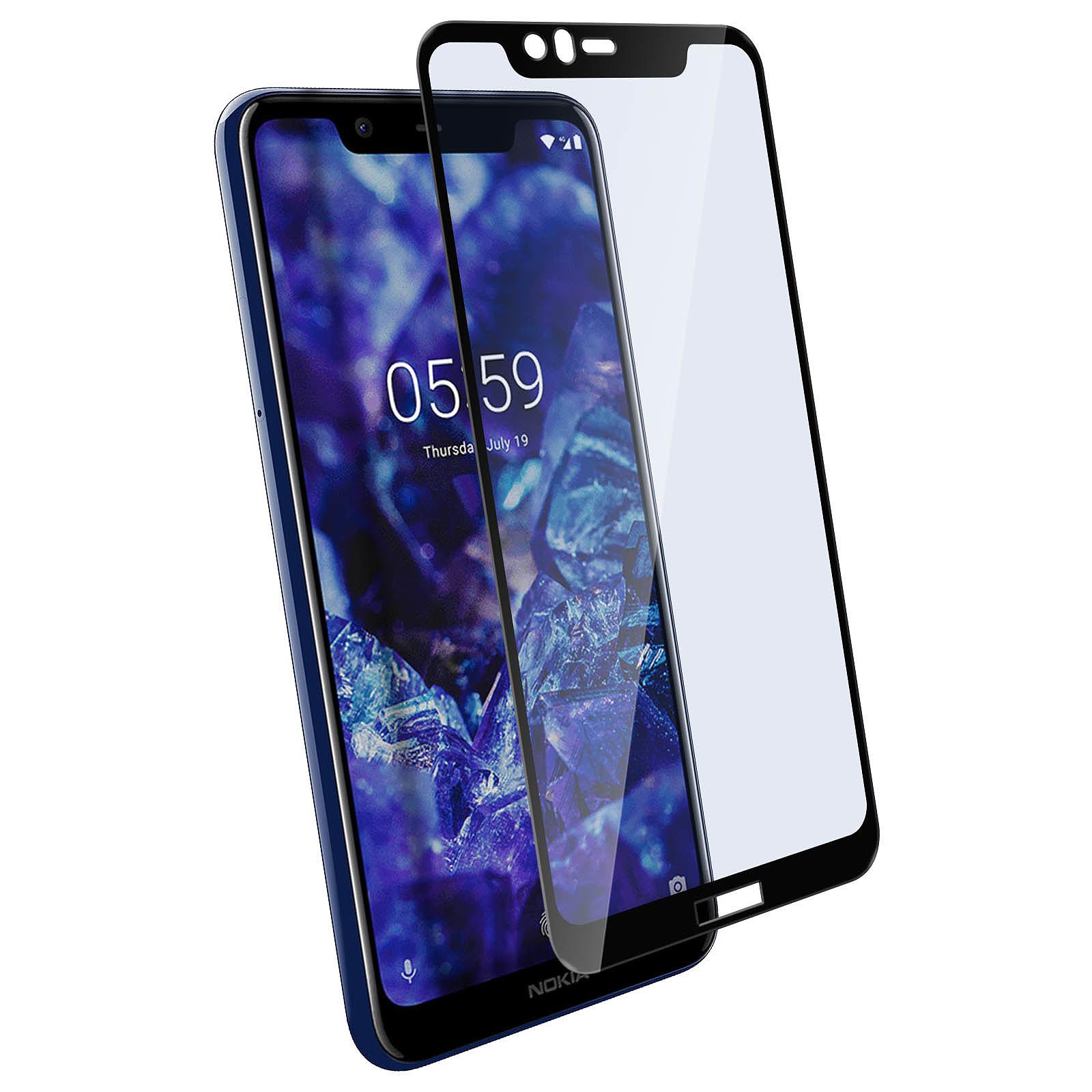 Avizar Film verre trempé Noir pour Nokia 5.1 Plus