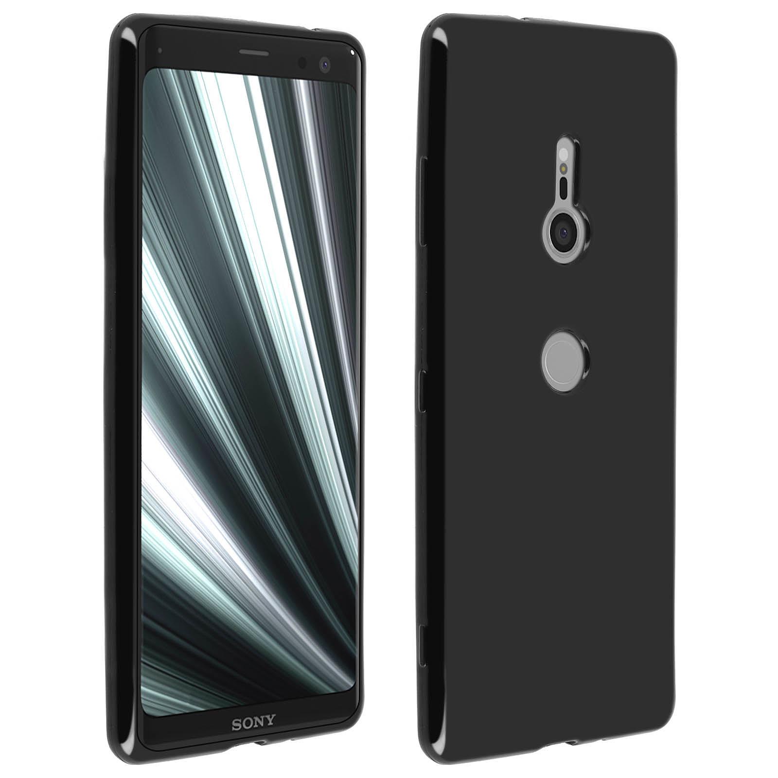 Avizar Coque Noir Vernis pour Sony Xperia XZ3