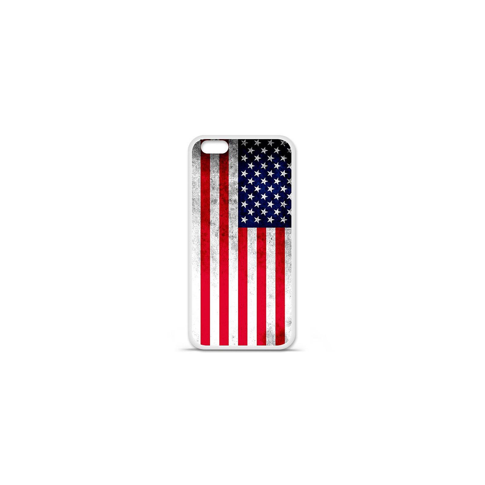 1001 Coques Coque silicone gel Apple IPhone 7 Plus motif Drapeau USA