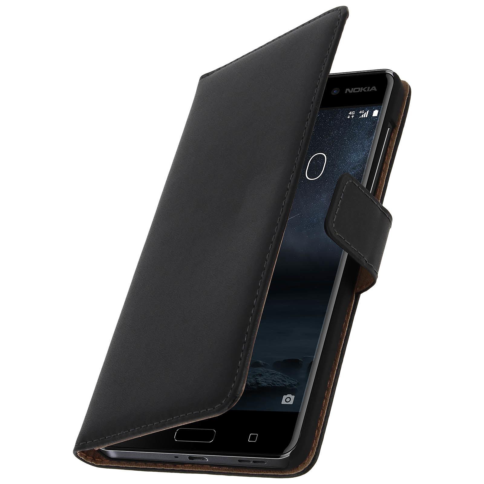 Avizar Etui folio Noir pour Nokia 6