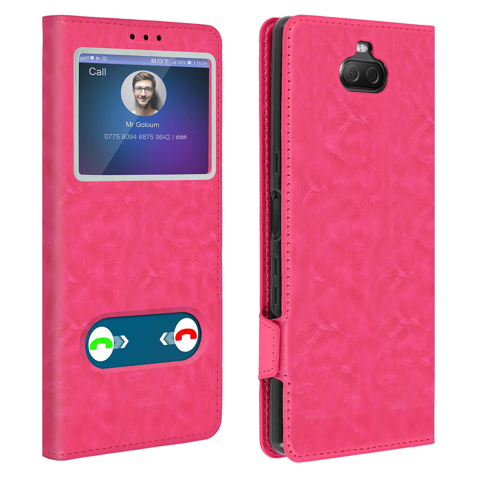 Avizar Etui folio Rose Stand Vidéo pour Sony Xperia 10