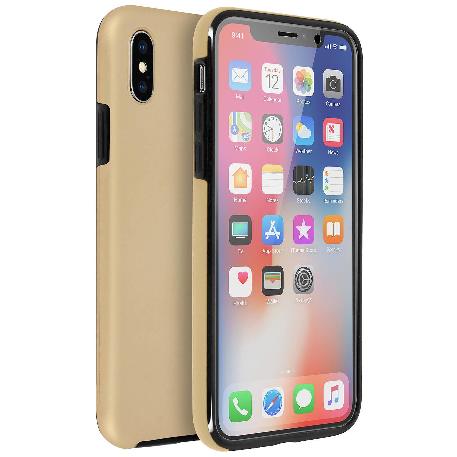 Avizar Coque Dorée pour Apple iPhone X , Apple iPhone XS