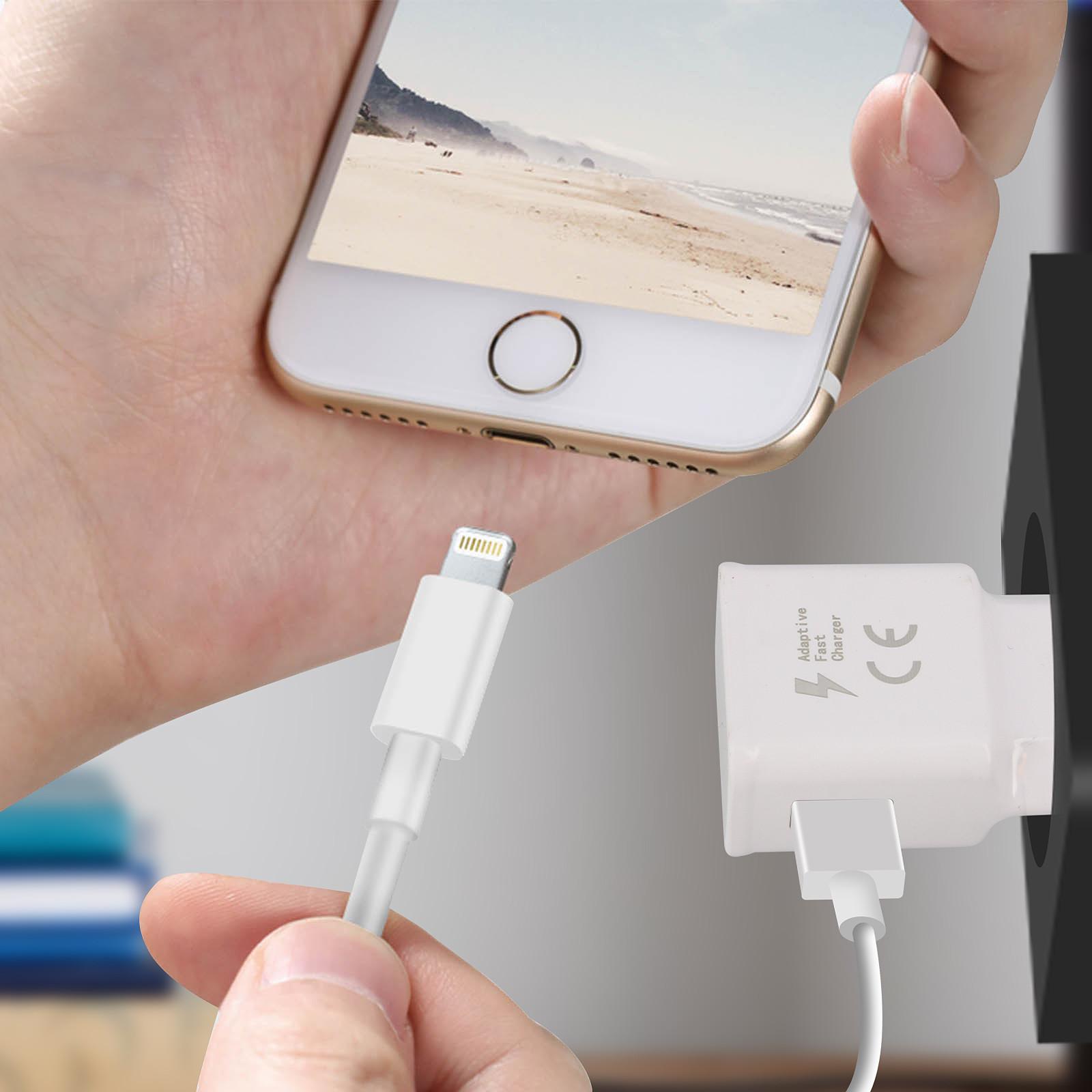 Avizar Chargeur secteur Blanc pour Smartphones dotés d'une