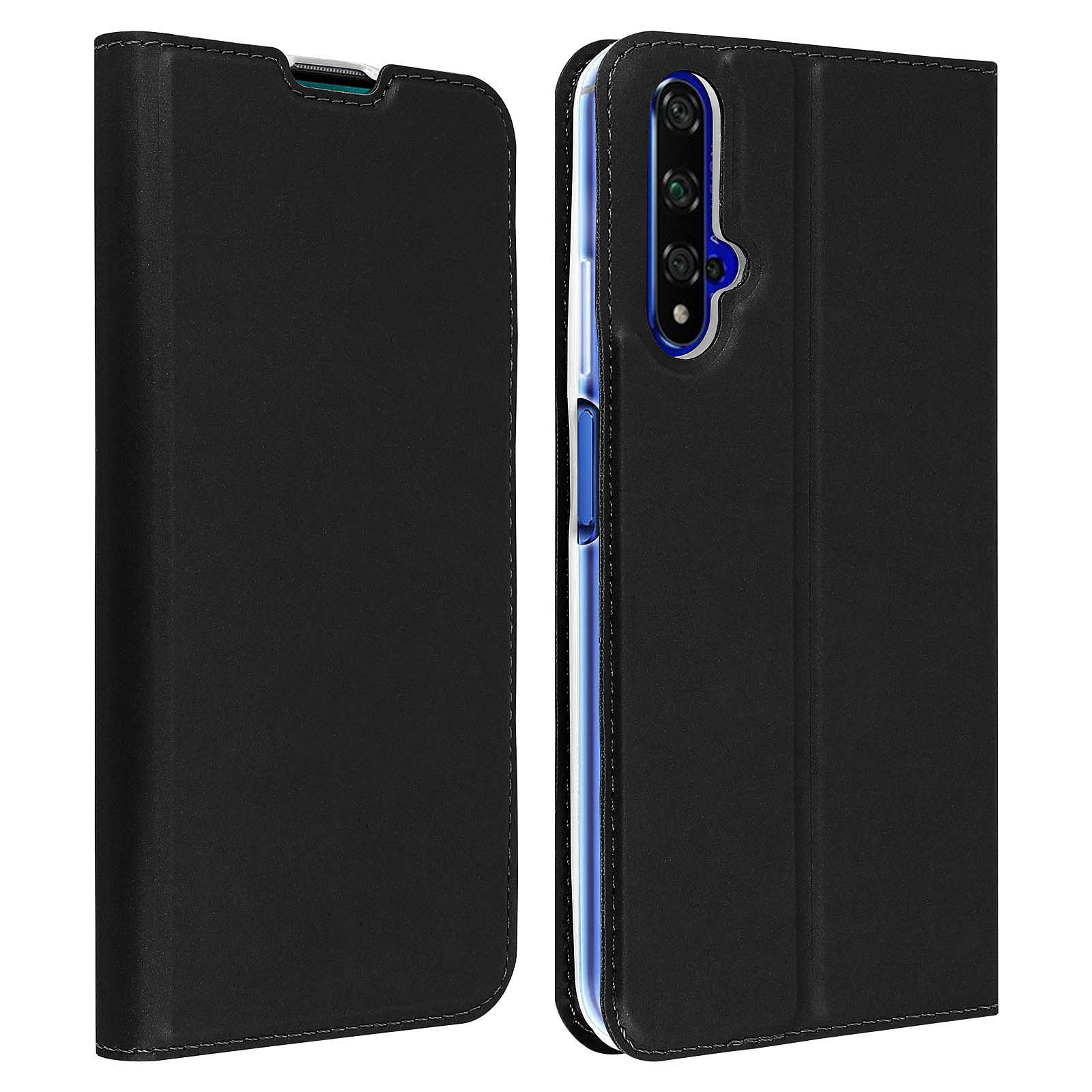Avizar Etui folio Noir pour Honor 20 , Huawei Nova 5T