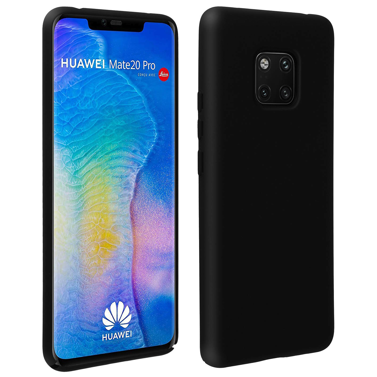 Avizar Coque Noir Semi-Rigide pour Huawei Mate 20 Pro