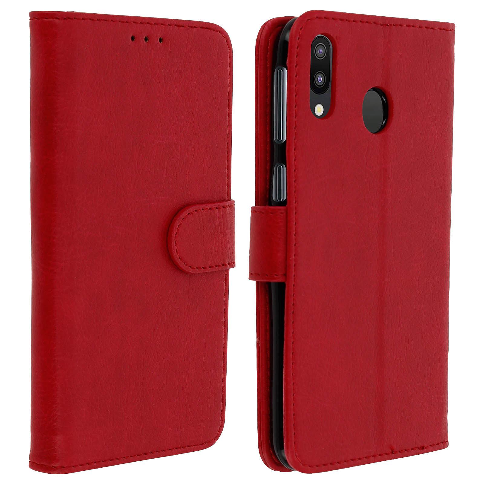 Avizar Etui folio Rouge pour Samsung Galaxy M20
