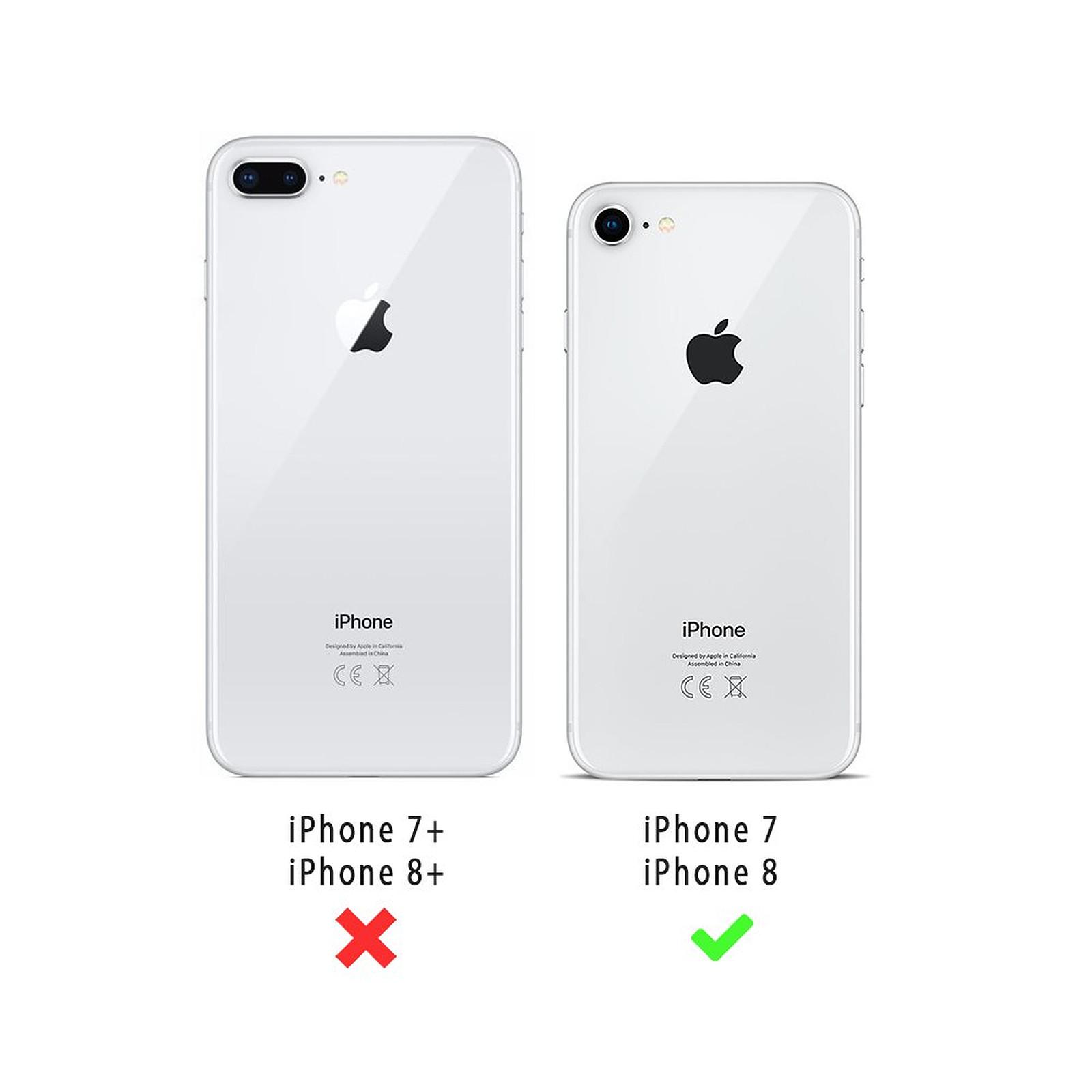 EVETANE Coque iPhone 7/8/ iPhone SE 2020 360 intégrale transparente Chute De Fleurs Tendance