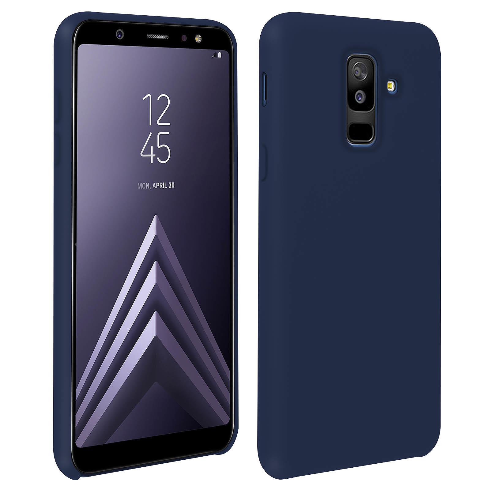 Avizar Coque Bleu Nuit pour Samsung Galaxy A6 Plus