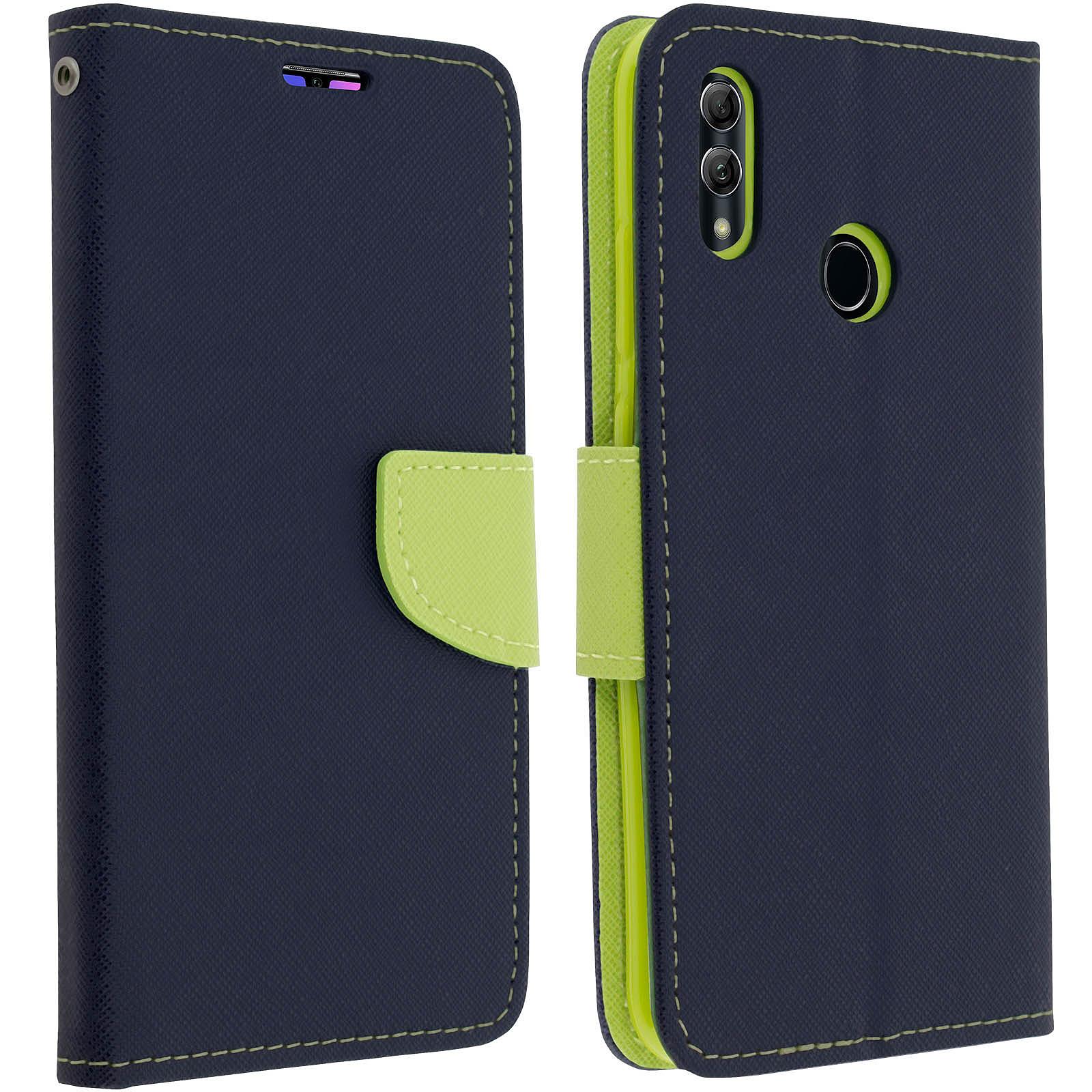 Avizar Etui folio Bleu Nuit Fancy Style pour Huawei P Smart 2019 , Honor 10 Lite
