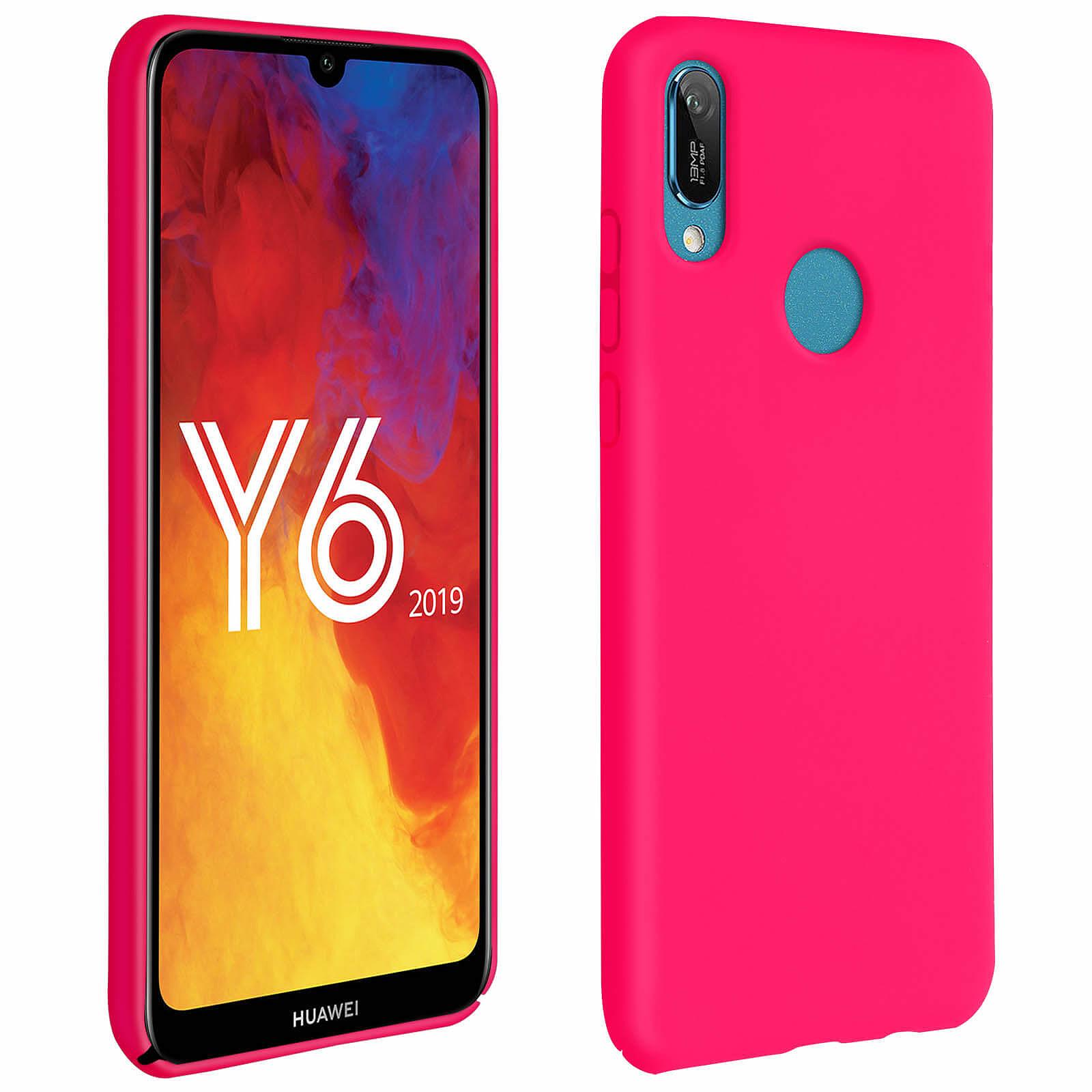 Avizar Coque Fuchsia pour Honor 8A , Huawei Y6 2019 , Huawei Y6S