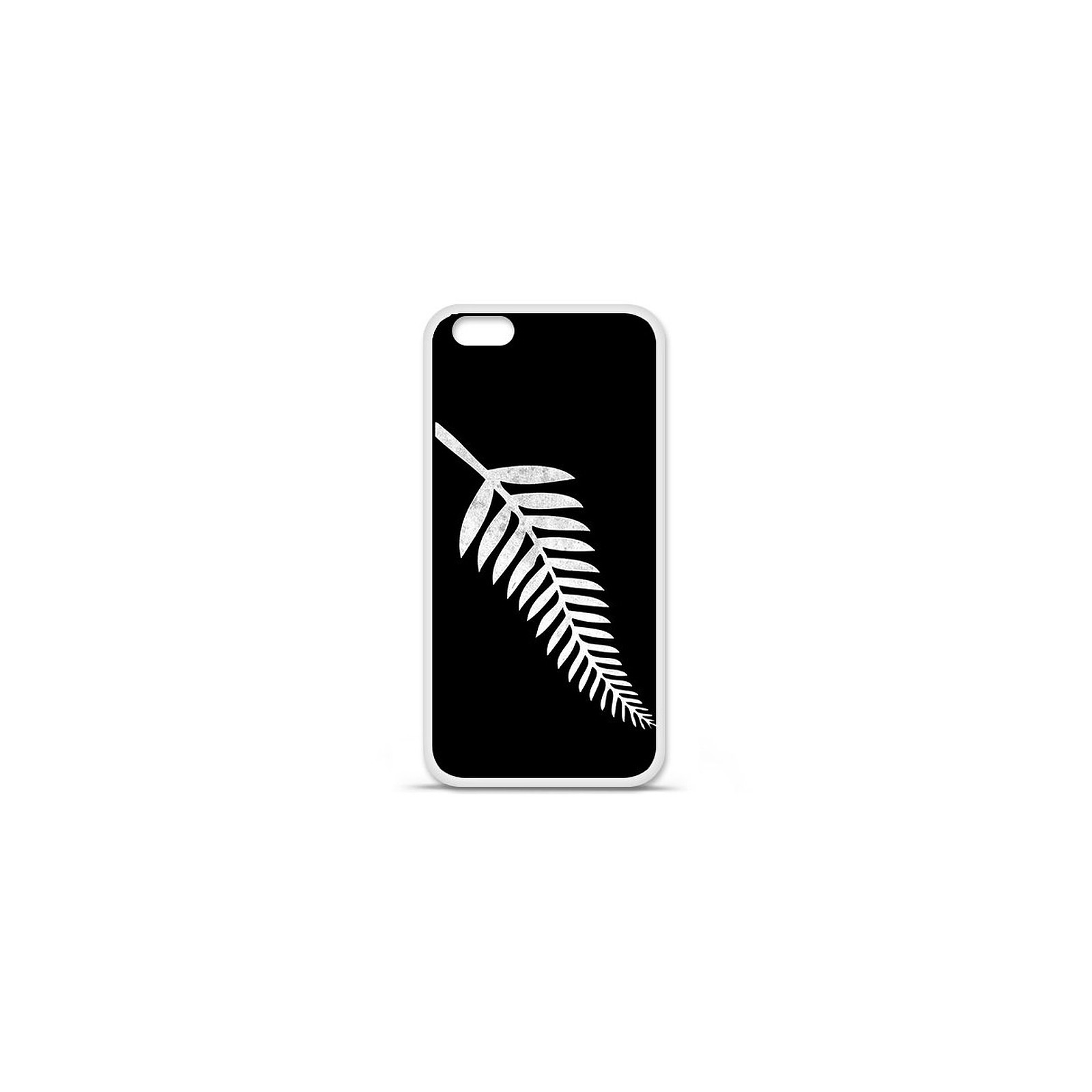 1001 Coques Coque silicone gel Apple IPhone 7 Plus motif Drapeau All-black