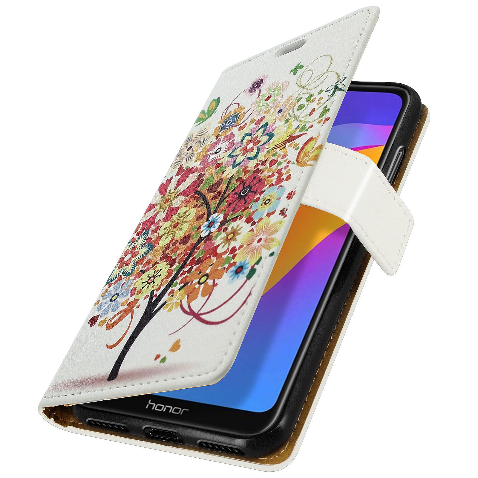 Avizar Etui folio Multicolore pour Honor 8A , Huawei Y6 2019 , Huawei Y6S , Honor 8A 2020