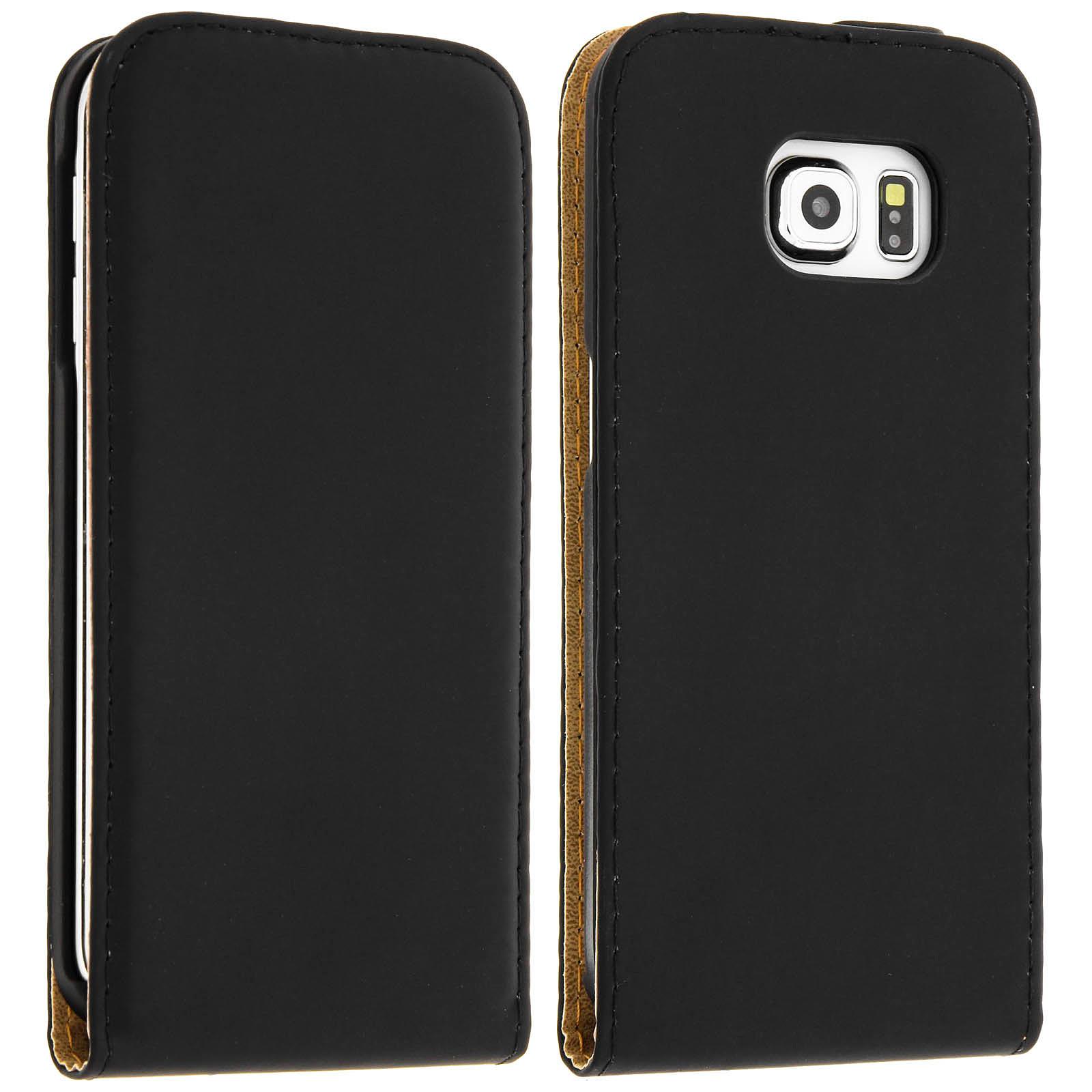 Avizar Etui à clapet Noir pour Samsung Galaxy S6 Edge