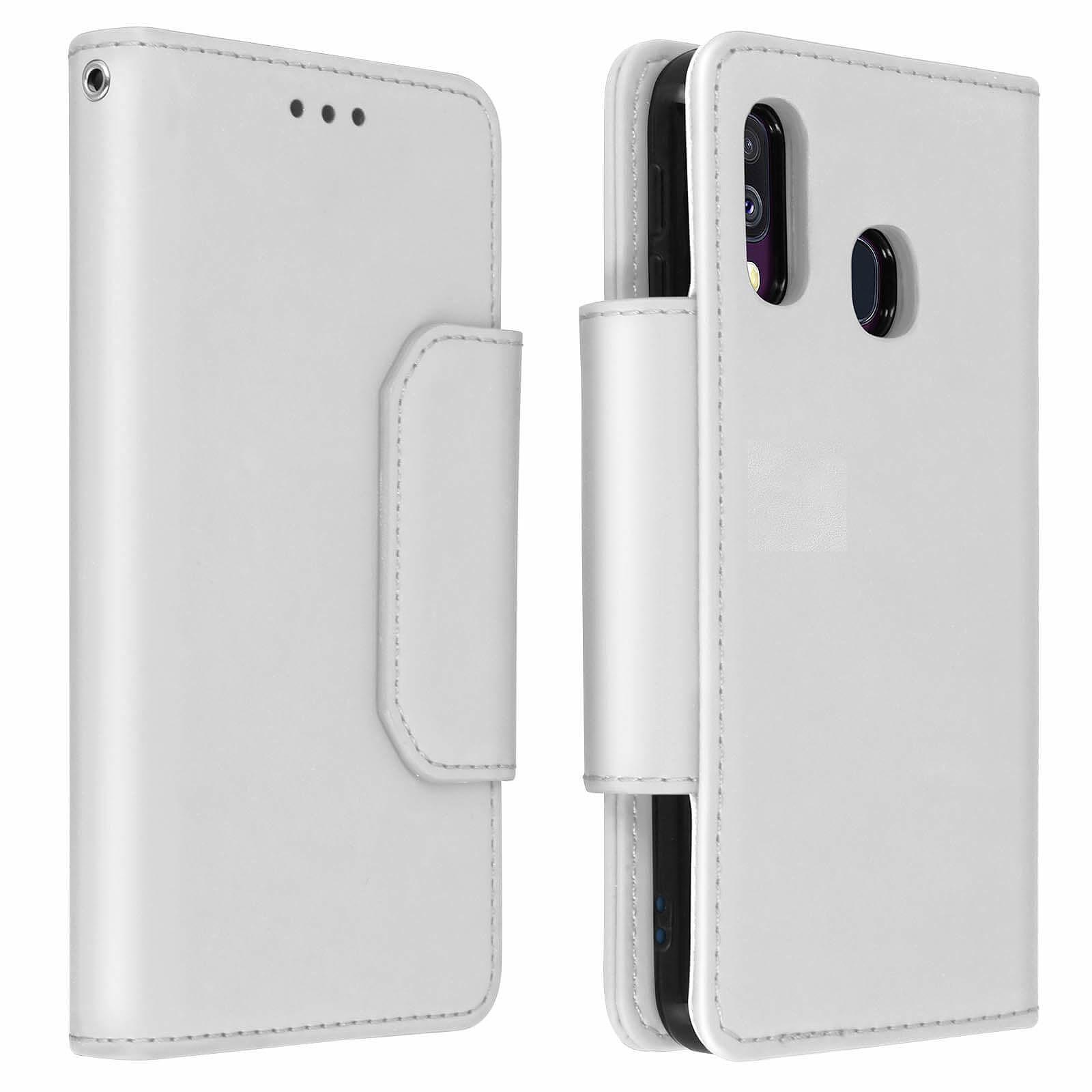 Avizar Etui folio Argent pour Samsung Galaxy A40