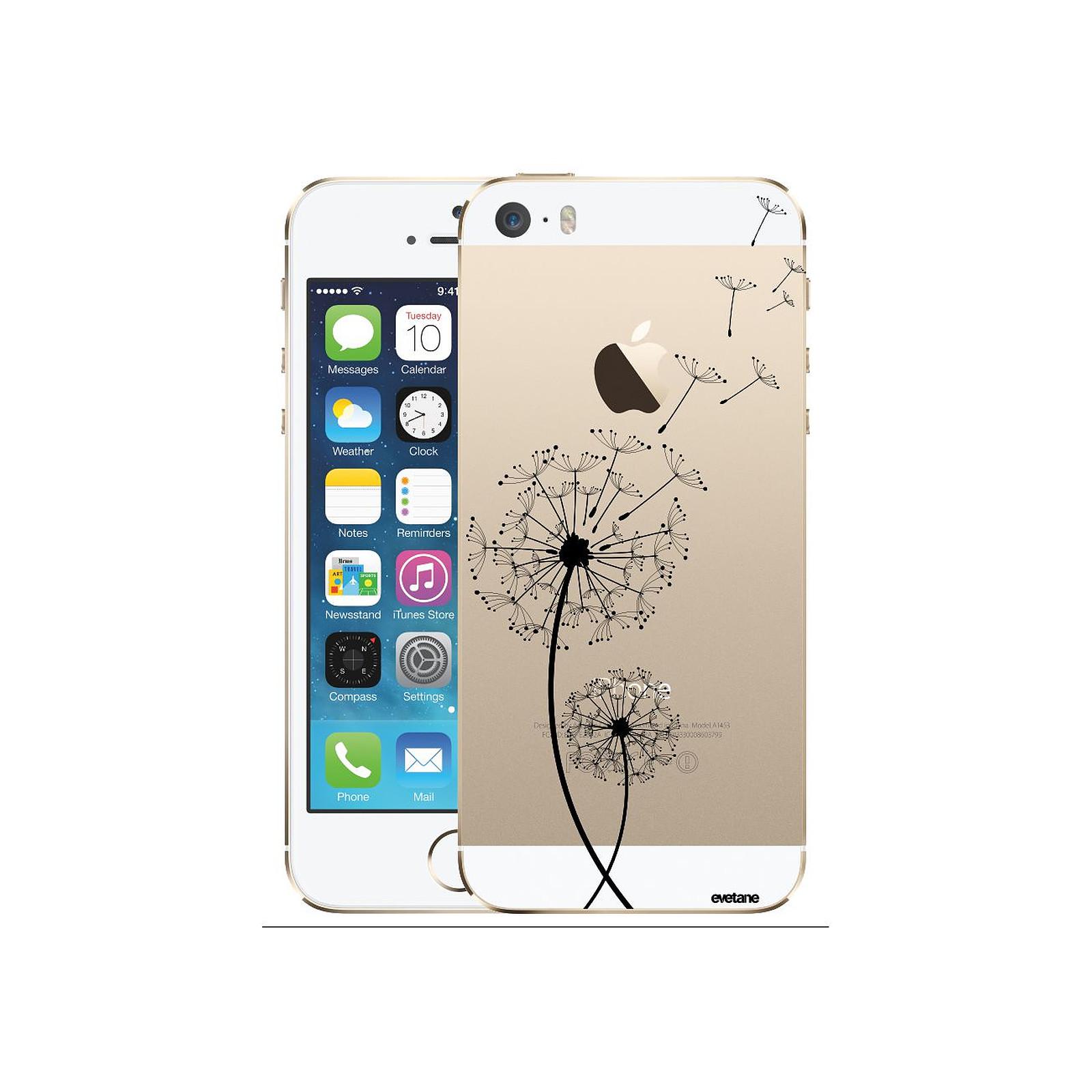 EVETANE Coque iPhone 5/5S/SE rigide transparente Pissenlit Dessin - Coque téléphone Evetane sur LDLC
