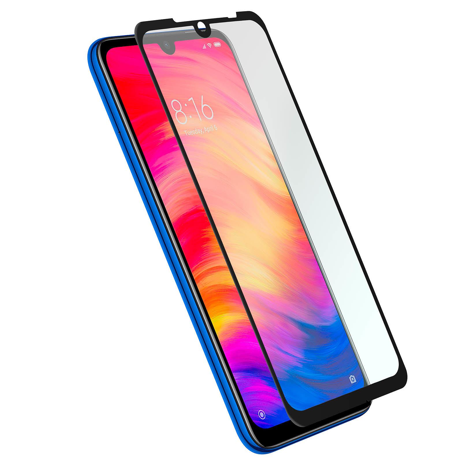 Avizar Film verre trempé Noir pour Xiaomi Redmi Note 7
