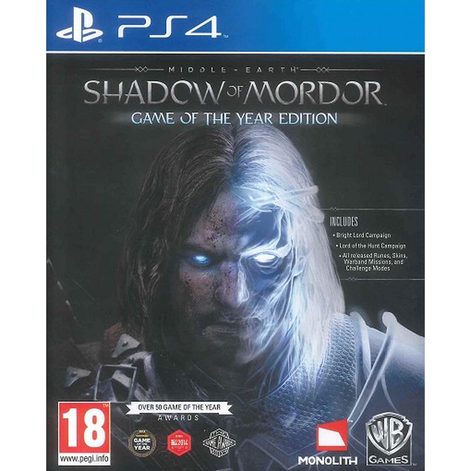 La Terre du Milieu L Ombre du Mordor GOTY (PS4)