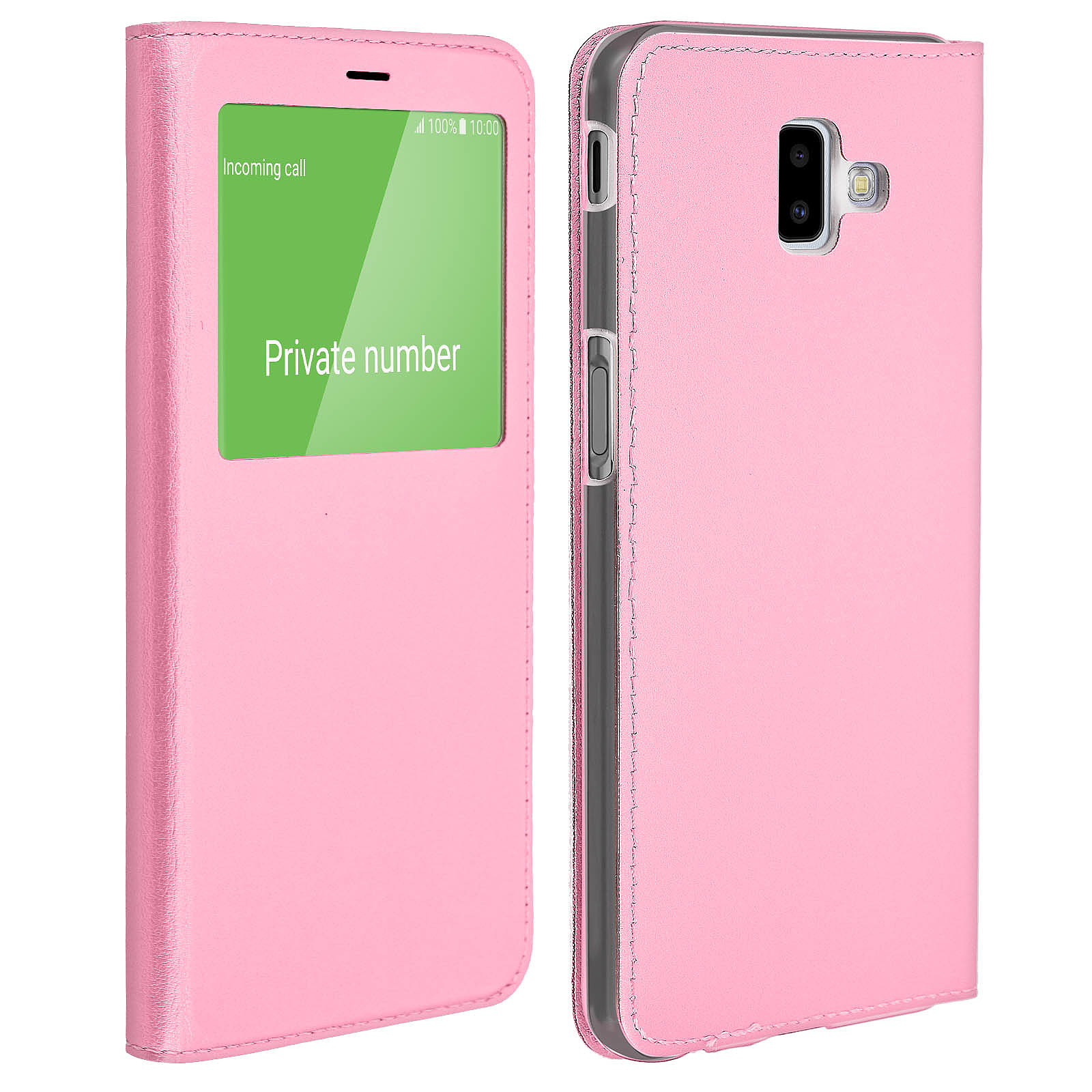 Avizar Etui folio Rose pour Samsung Galaxy J6 Plus