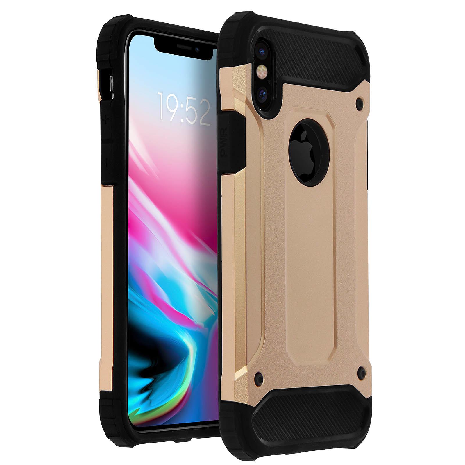 Avizar Coque Dorée Defender II pour Apple iPhone X , Apple iPhone XS